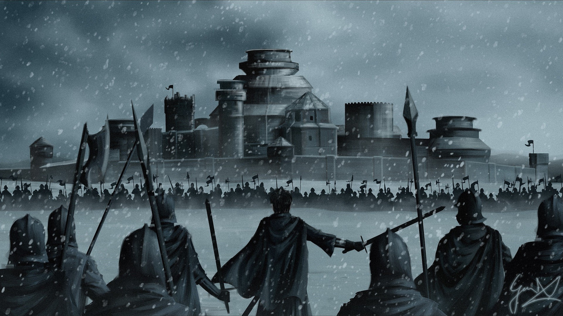 1920x1080 game-of-thrones-winterfell-stannis-baratheon-warriors-.