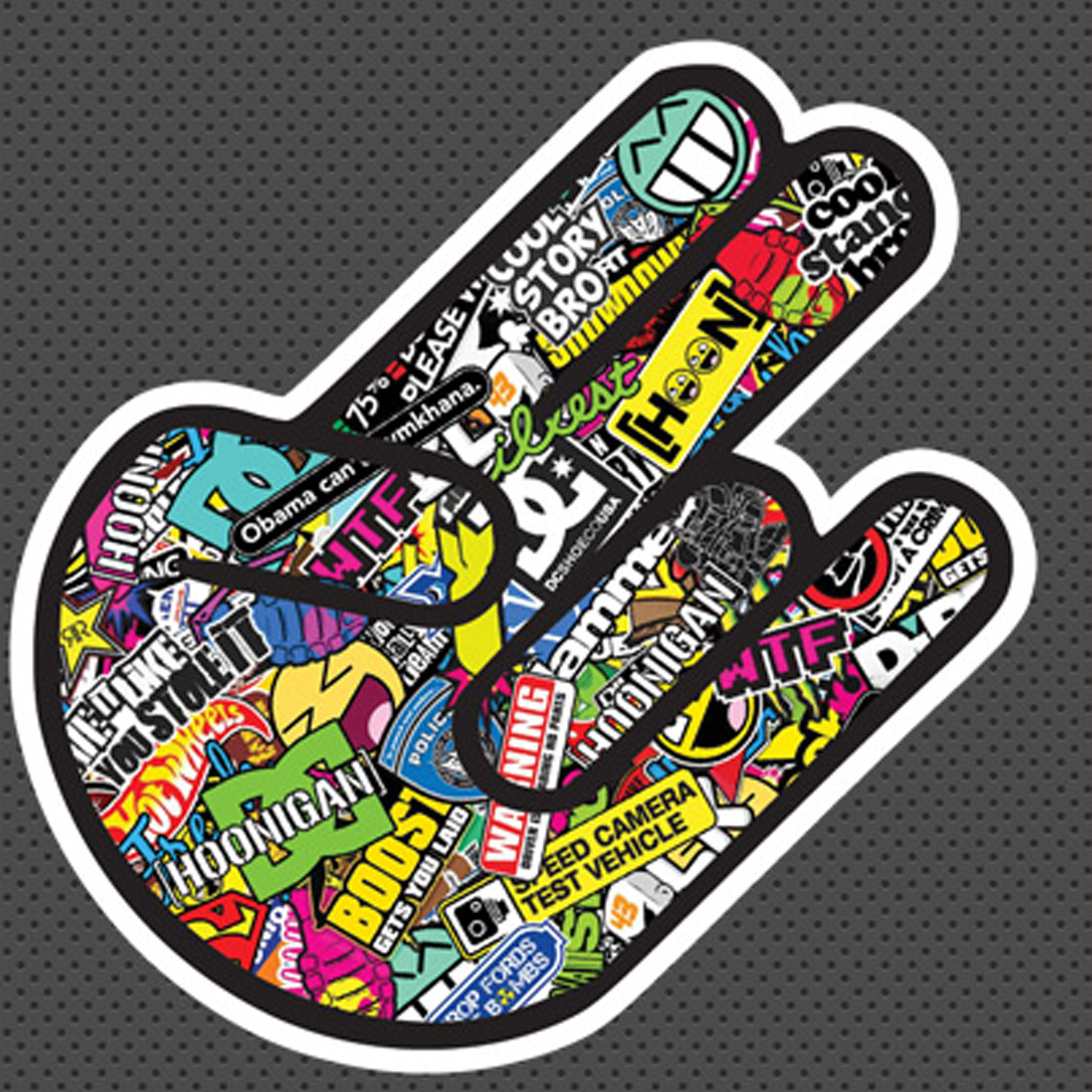 2048x2048 JDM The Shocker Sticker FREE SHIPPING
