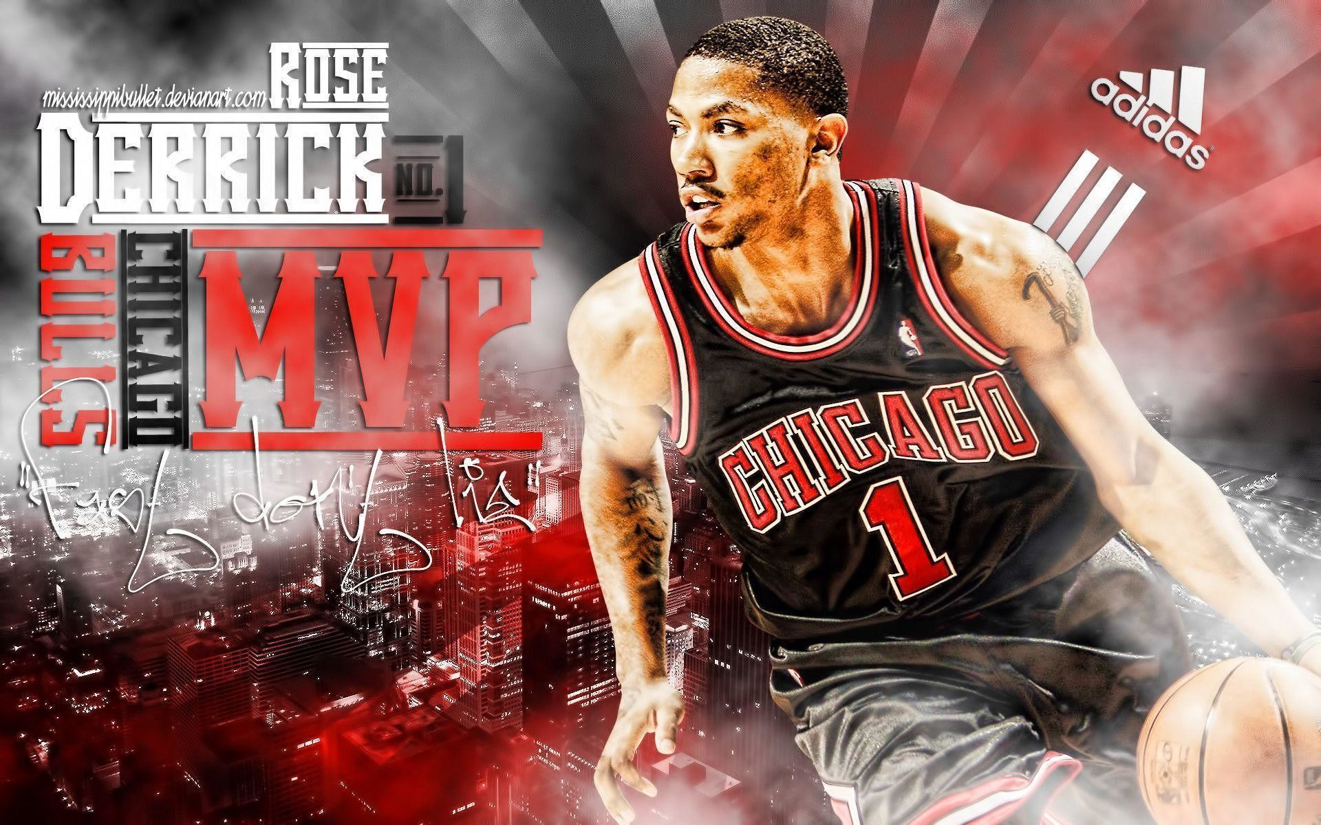 1225dafa2a78 1920x1200 Wallpapers For   Derrick Rose Bulls Mvp Wallpaper