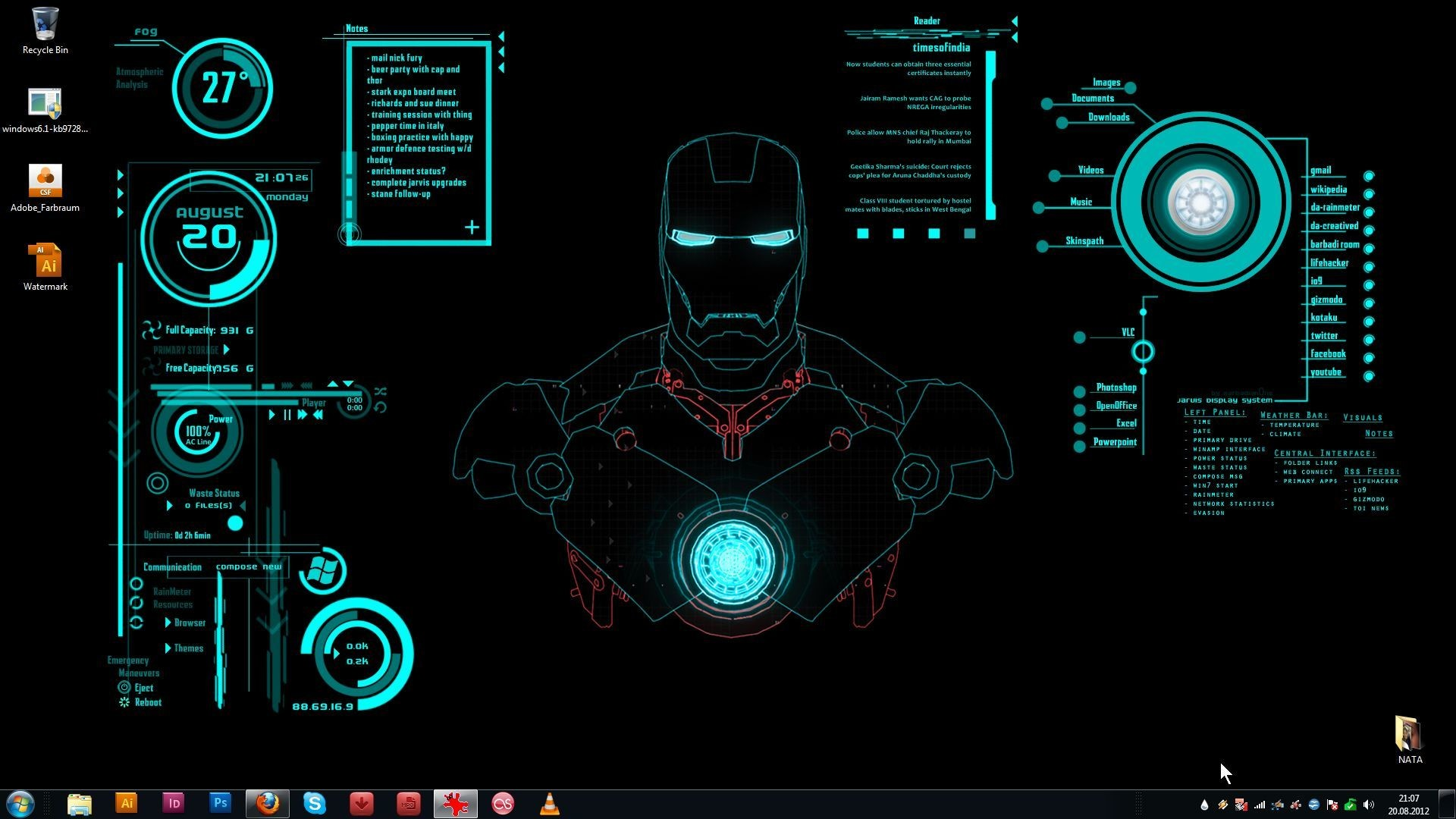 1920x1080 Iron Man Jarvis
