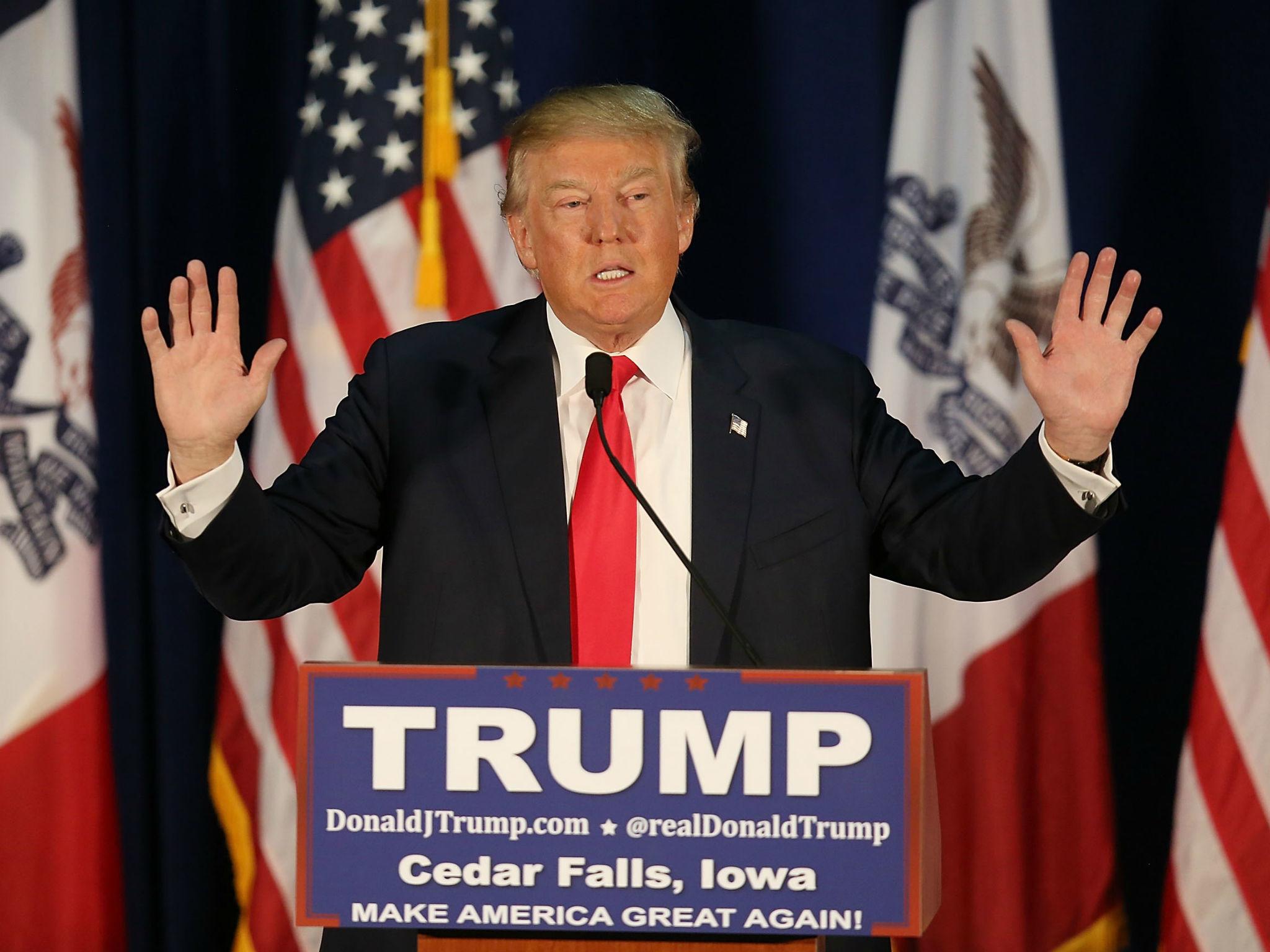 2048x1536 Donald Trump: GOP frontrunner calls sound technician 'son of a b***h' at  Florida rally | The Independent