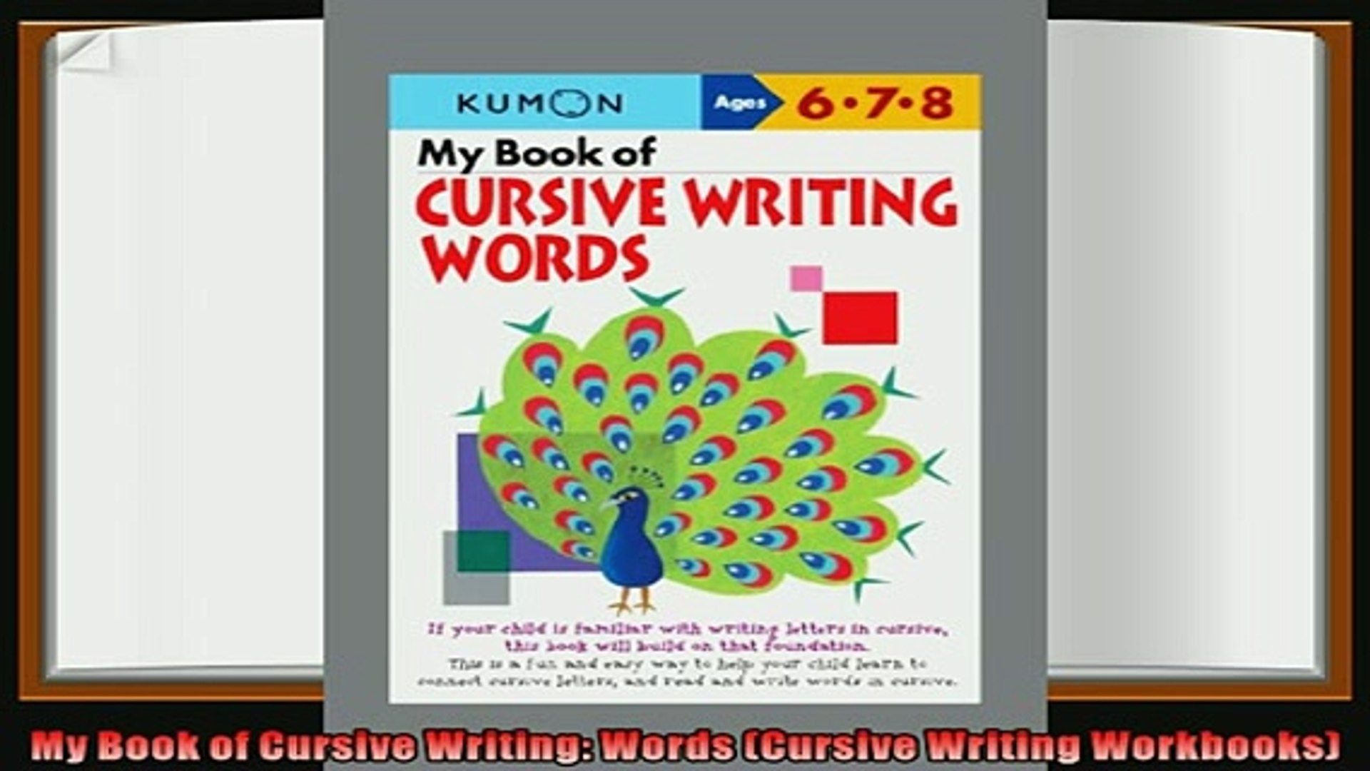 1920x1080 best book My Book of Cursive Writing Words Cursive Writing Workbooks -  video dailymotion