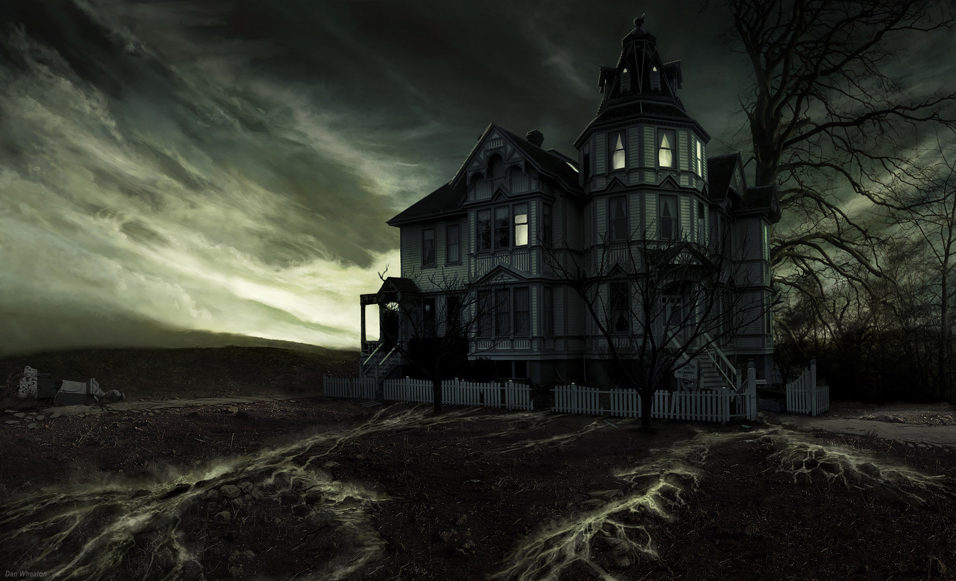 1920x1167 Haunted House