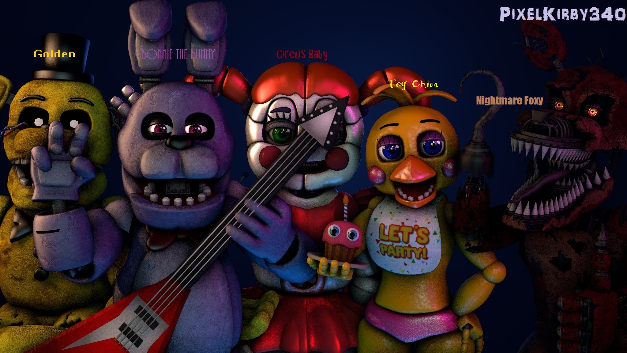 fnaf all characters wallpaper 80 images