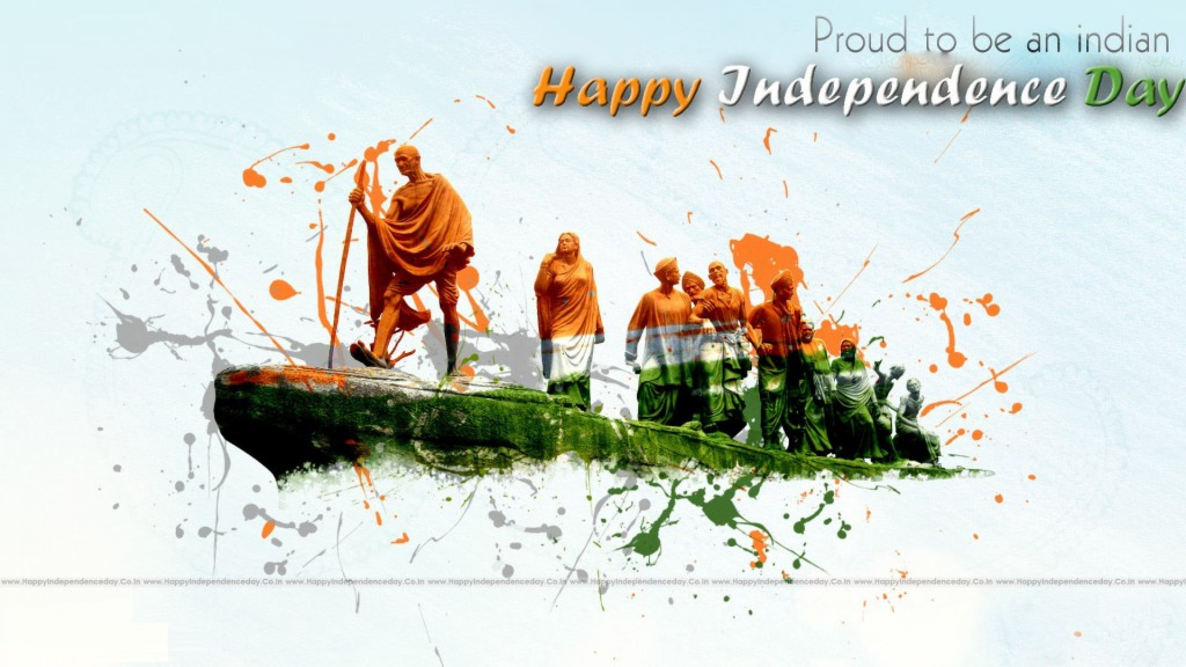 3840x2160 Indian Flag Wallpaper Animation for India Independence Day with