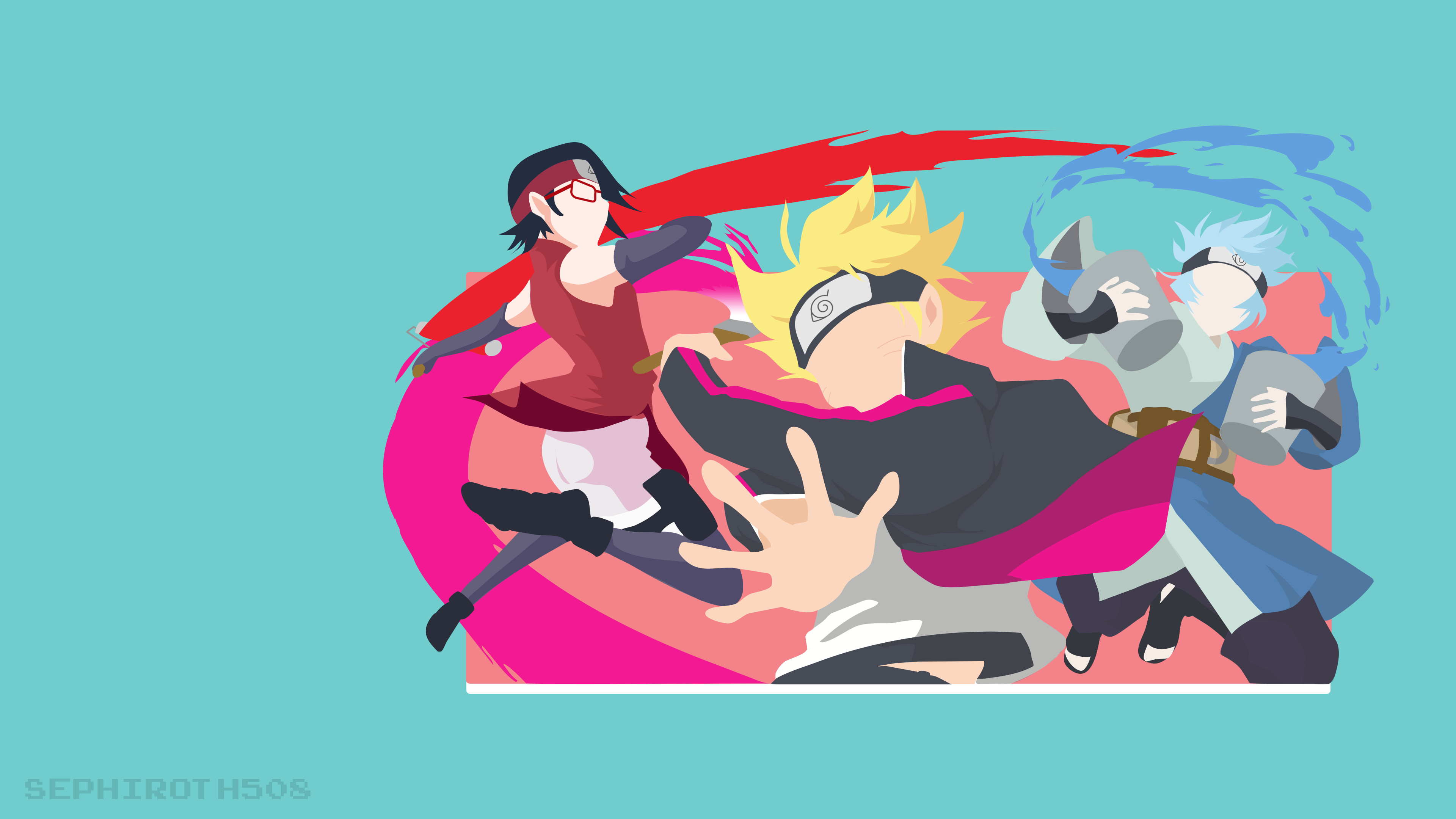 3840x2160 ArtBoruto: Naruto Next Generations | Minimalist Wallpaper ...