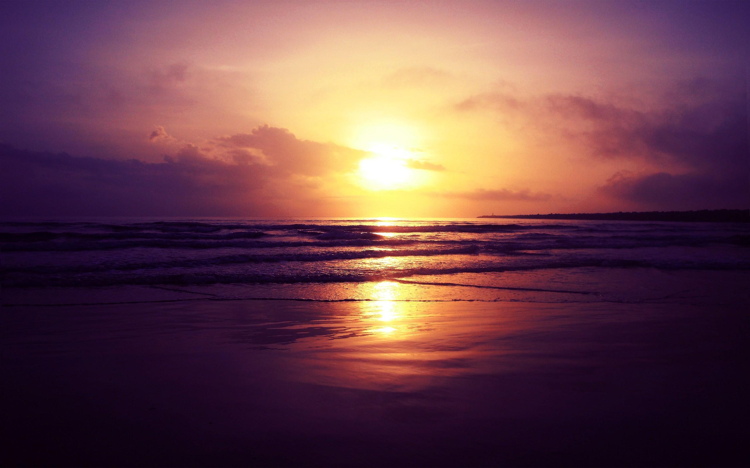 1920x1200 Beach Sunset Wallpaper Desktop