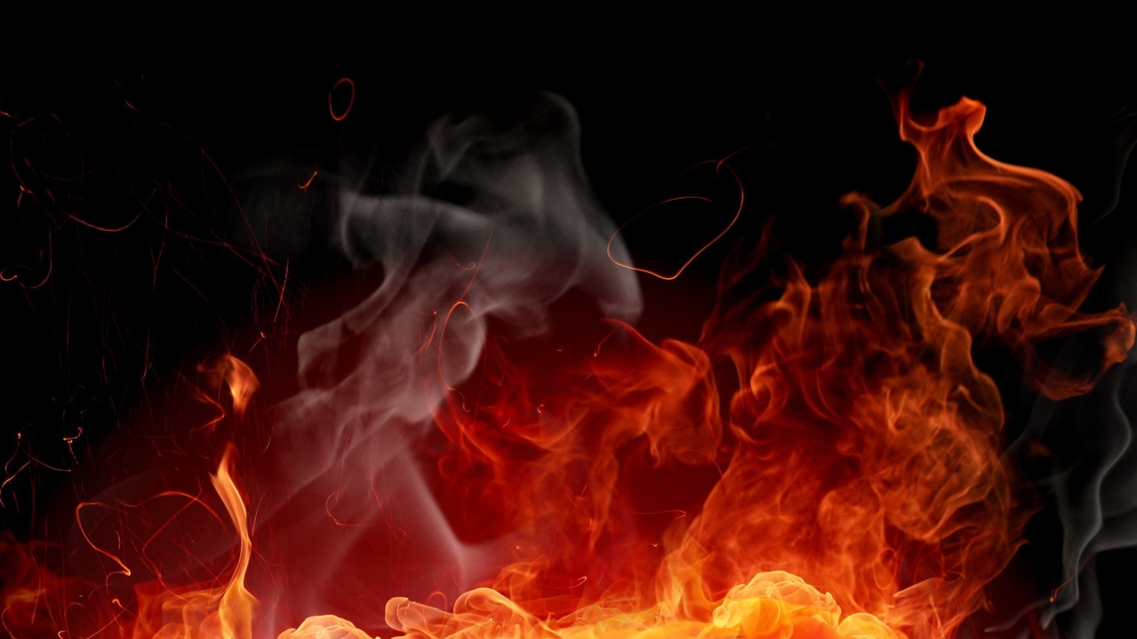 3840x2160 Preview wallpaper fire, background, color, abstraction