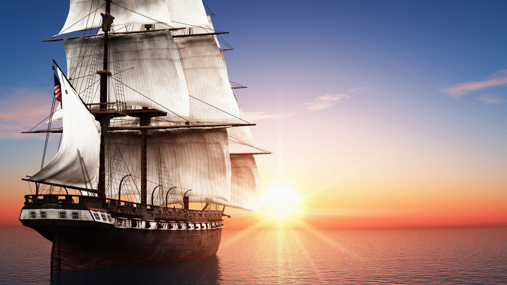 1920x1080 Sailing Ship Wallpaper