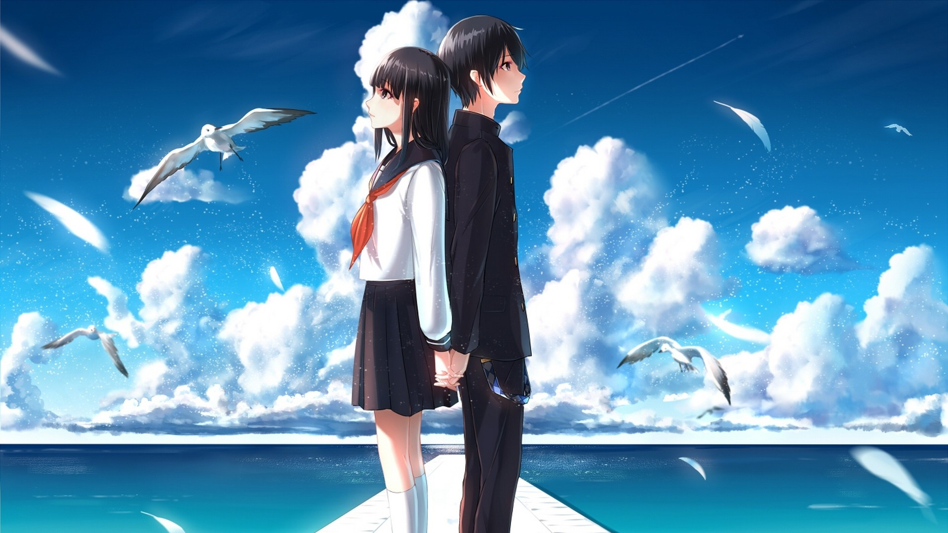 1920x1080 couple berth cloud romantic