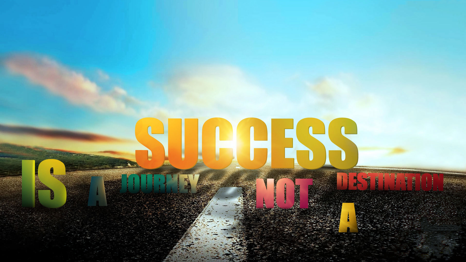 1920x1080 Motivational Success Wallpaper 3d