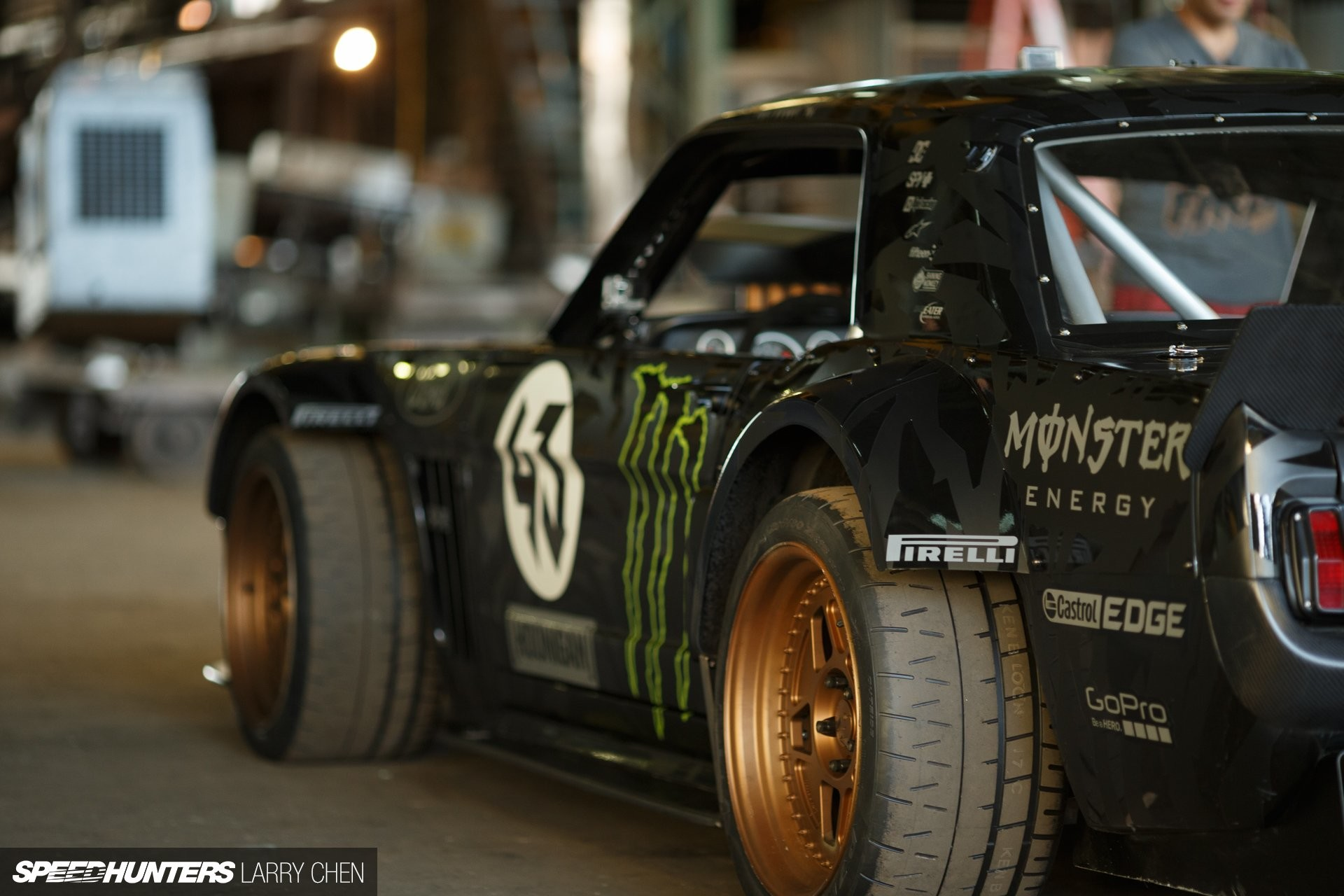 1920x1280 1965 Ford Mustang Hoonigan ASD Gymkhana-Seven drift hot rod rods muscle  race racing monster