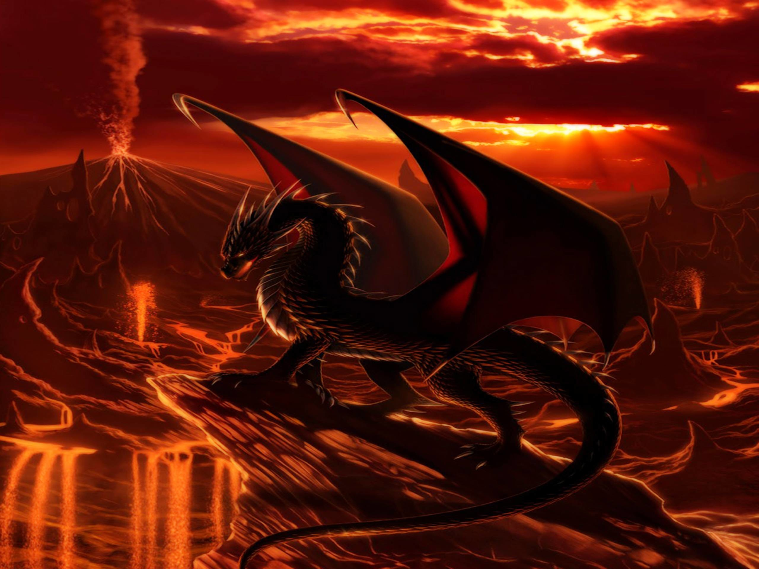 2560x1920 red dragon wallpaper #545948