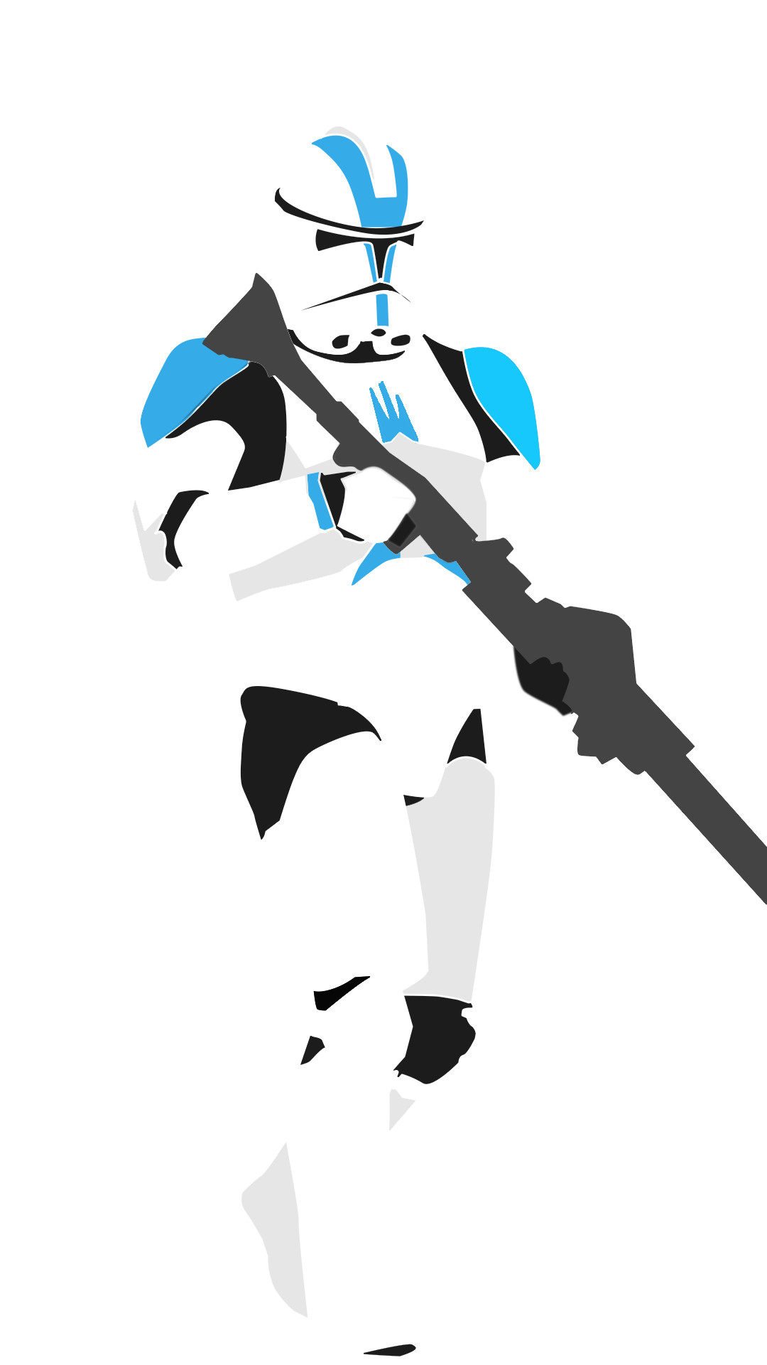 1080x1920 ... Negative Space 501st Clone Trooper by King-Eskimo