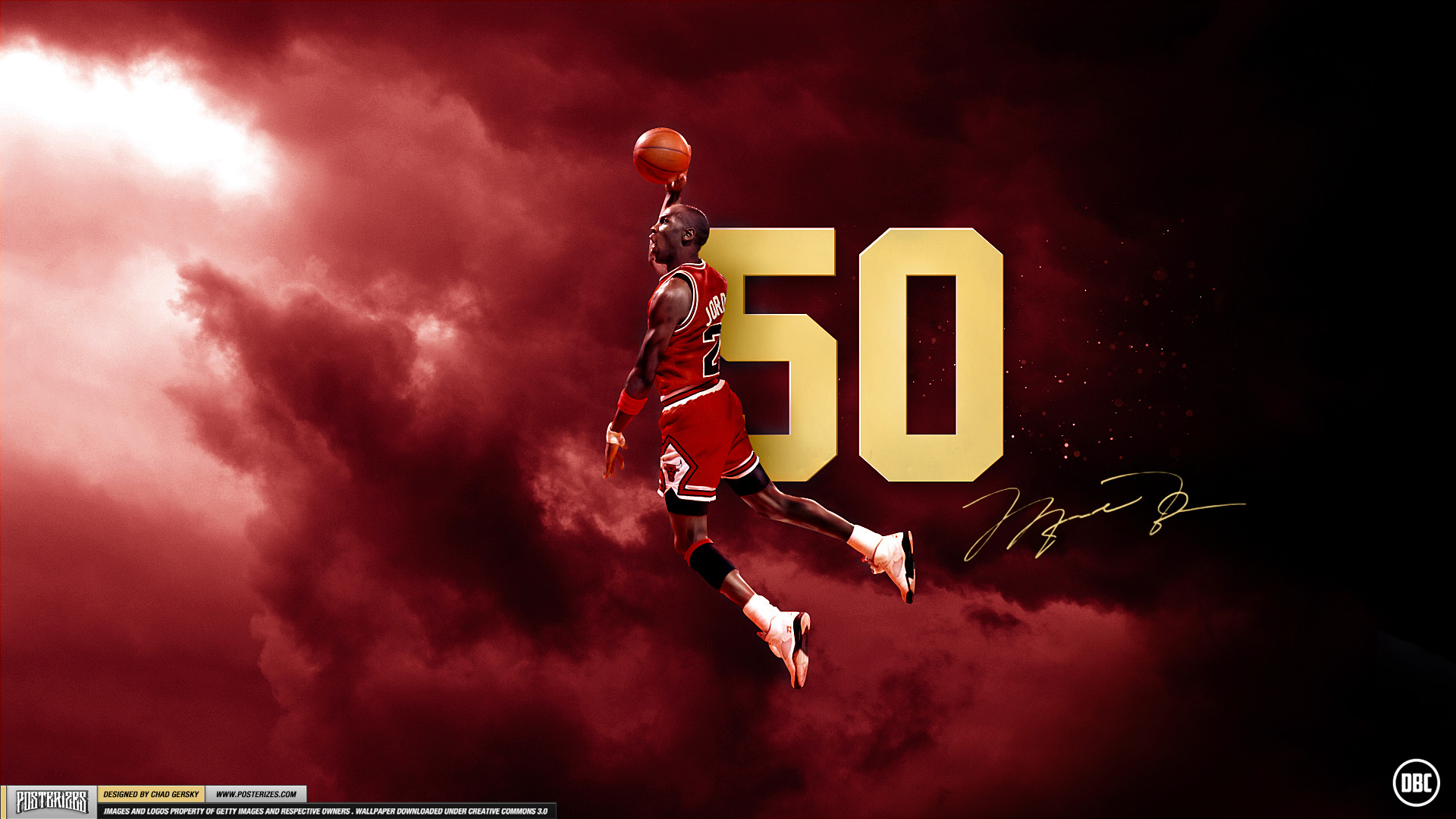 1920x1080 ... Michael Jordan Air 50 Wallpaper by Chadski51