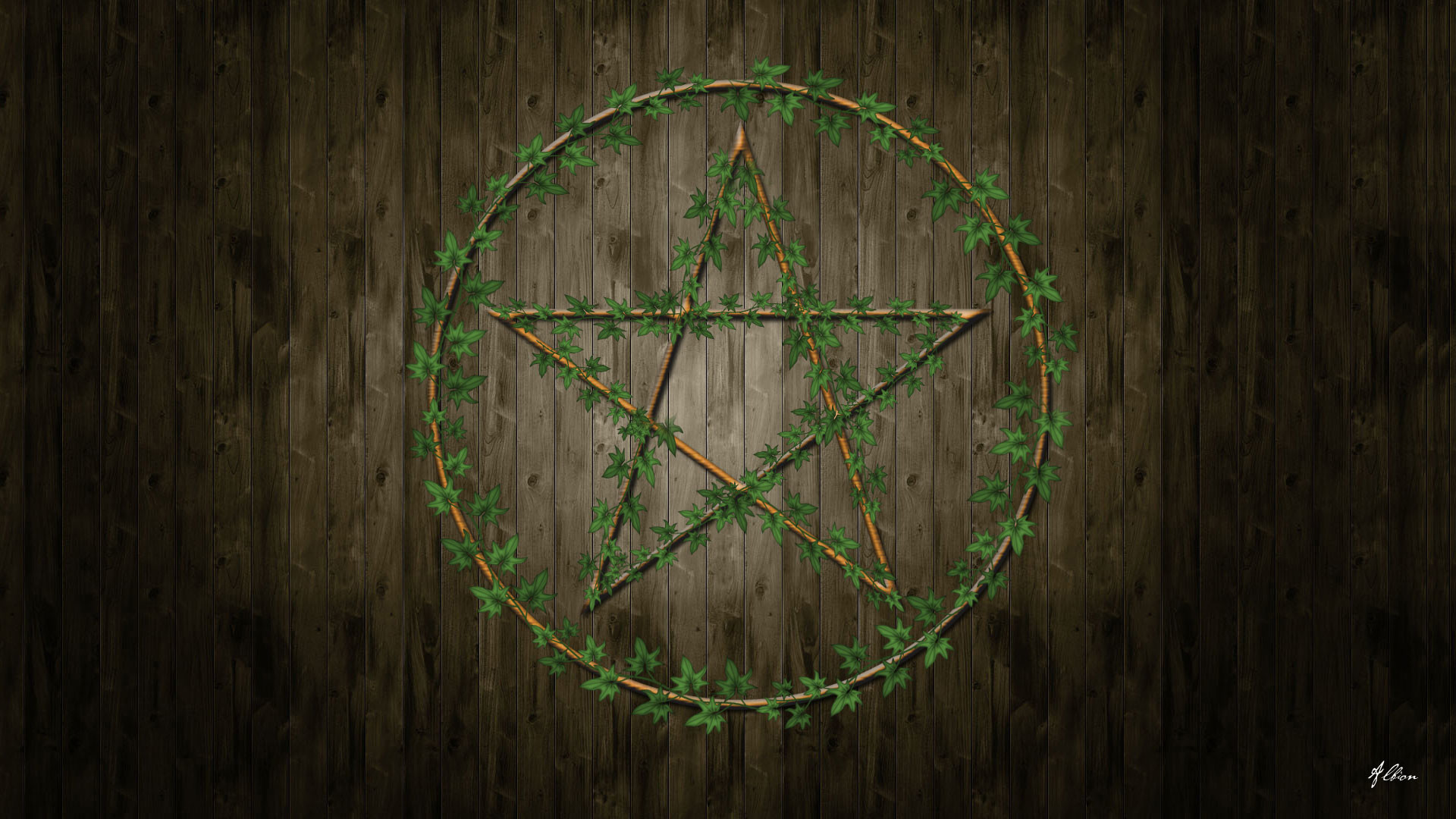1920x1080 Pentagram Wallpaper by The Pagan Gallery