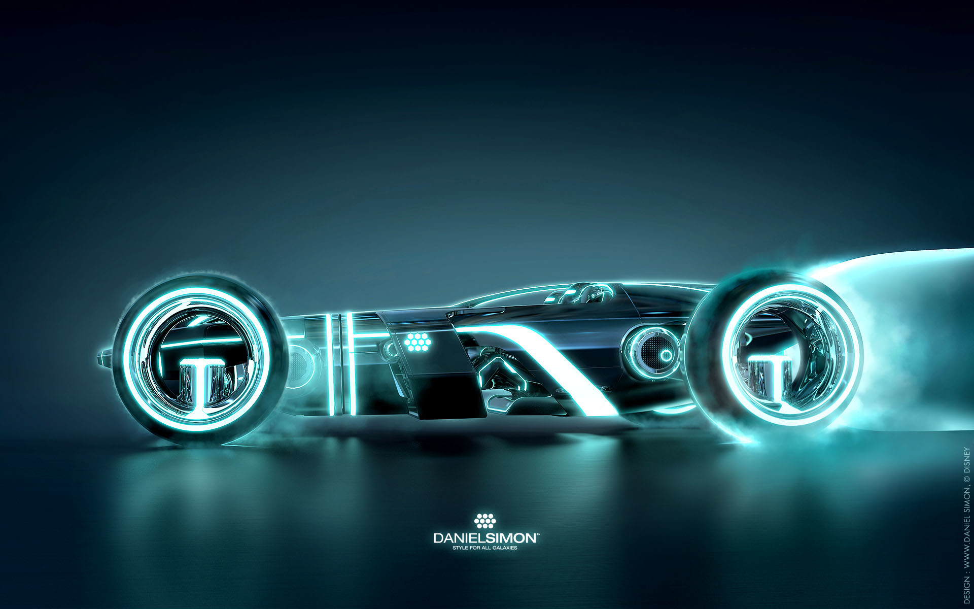 1920x1200 Wallpaper Tron Legacy Light Runner Design
