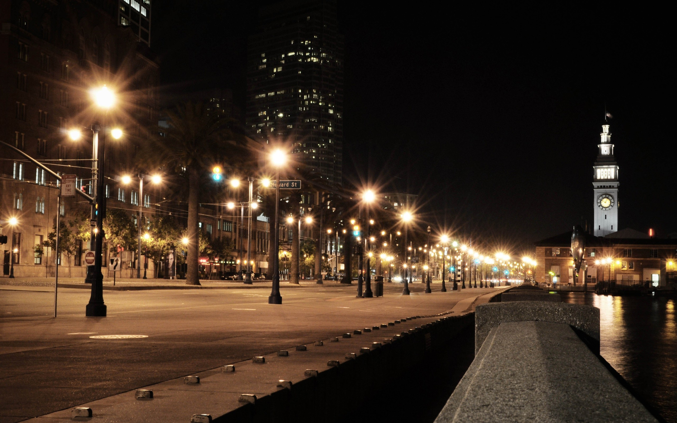 1280x1920 Tower City Night Road Street