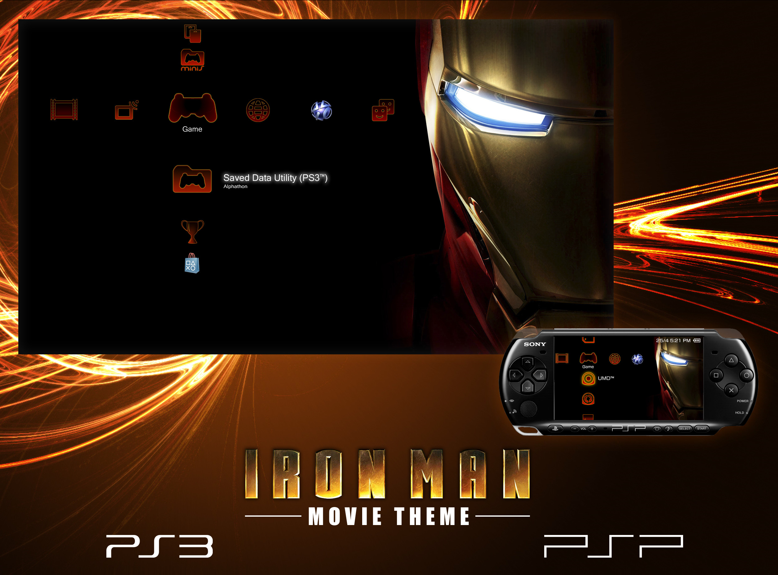 2509x1853 ... Iron Man Theme for PS3 and PSP by Alphathon