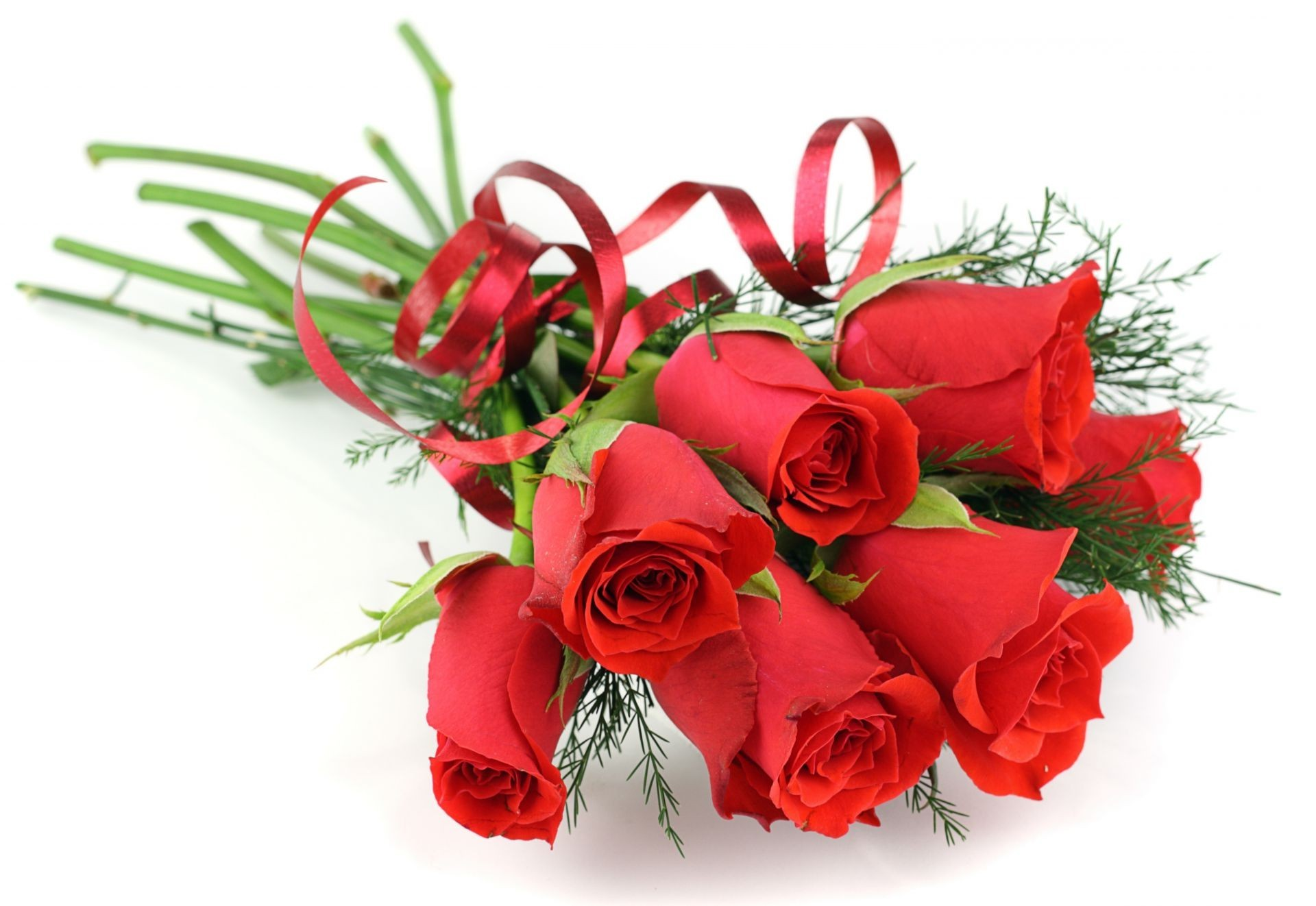1920x1322 Bouquet of flowers white background ribbon red Roses. Android wallpapers  for free.