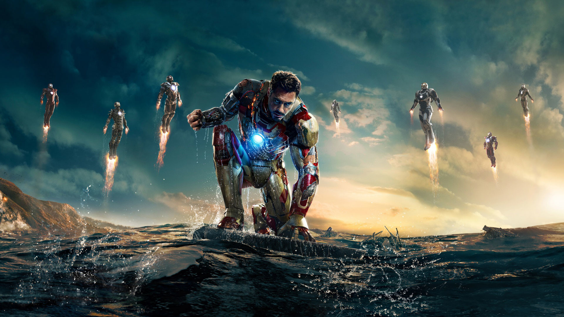 2560x1600 Black Iron Man 3 HD Wallpaper