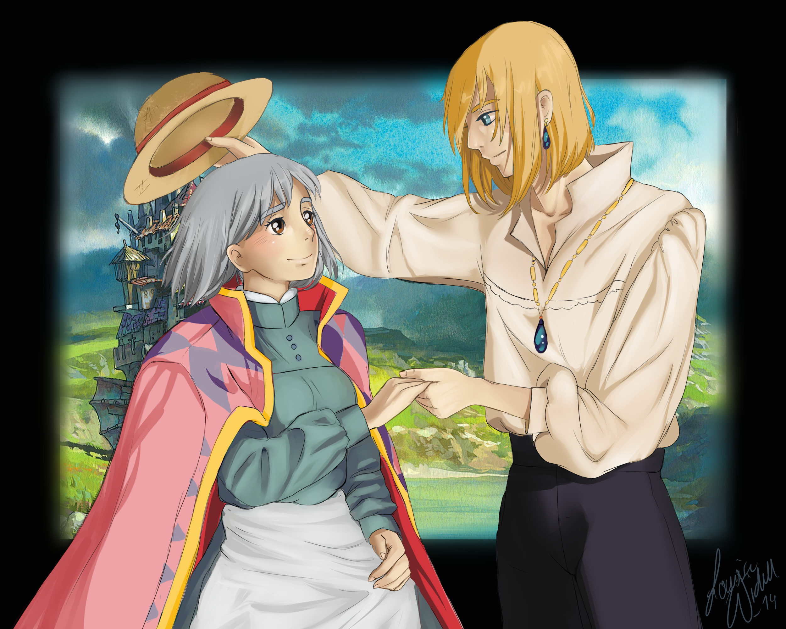 2500x2000 ... Fanart: Sophie and Howl - Howl's moving castle by TheBananafly