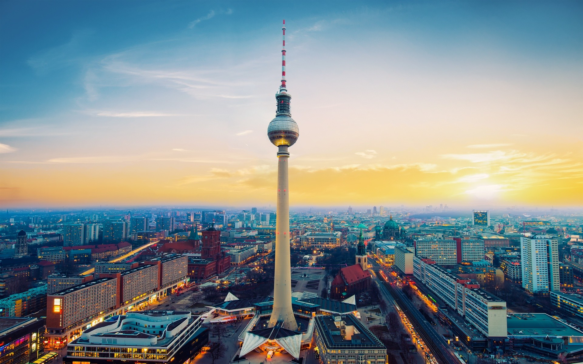 1920x1200 Fernsehturm Berlin TV Tower Germany Wallpapers