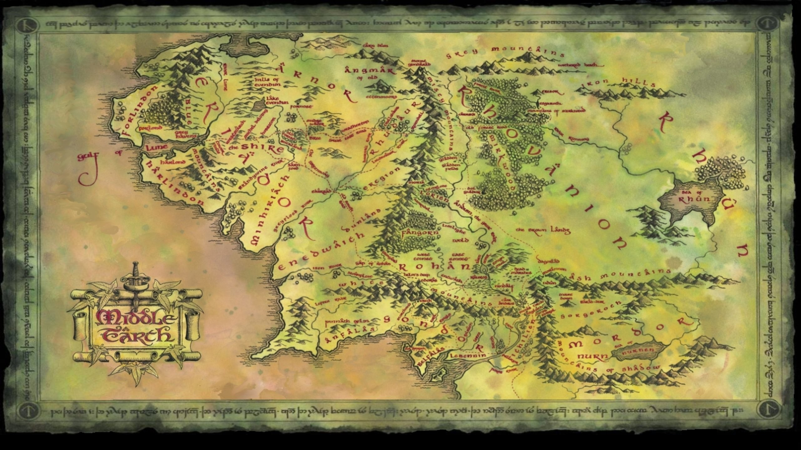 Map of Middle Earth Wallpaper (42+ images) Map Of Middle Earth The Hobbit on