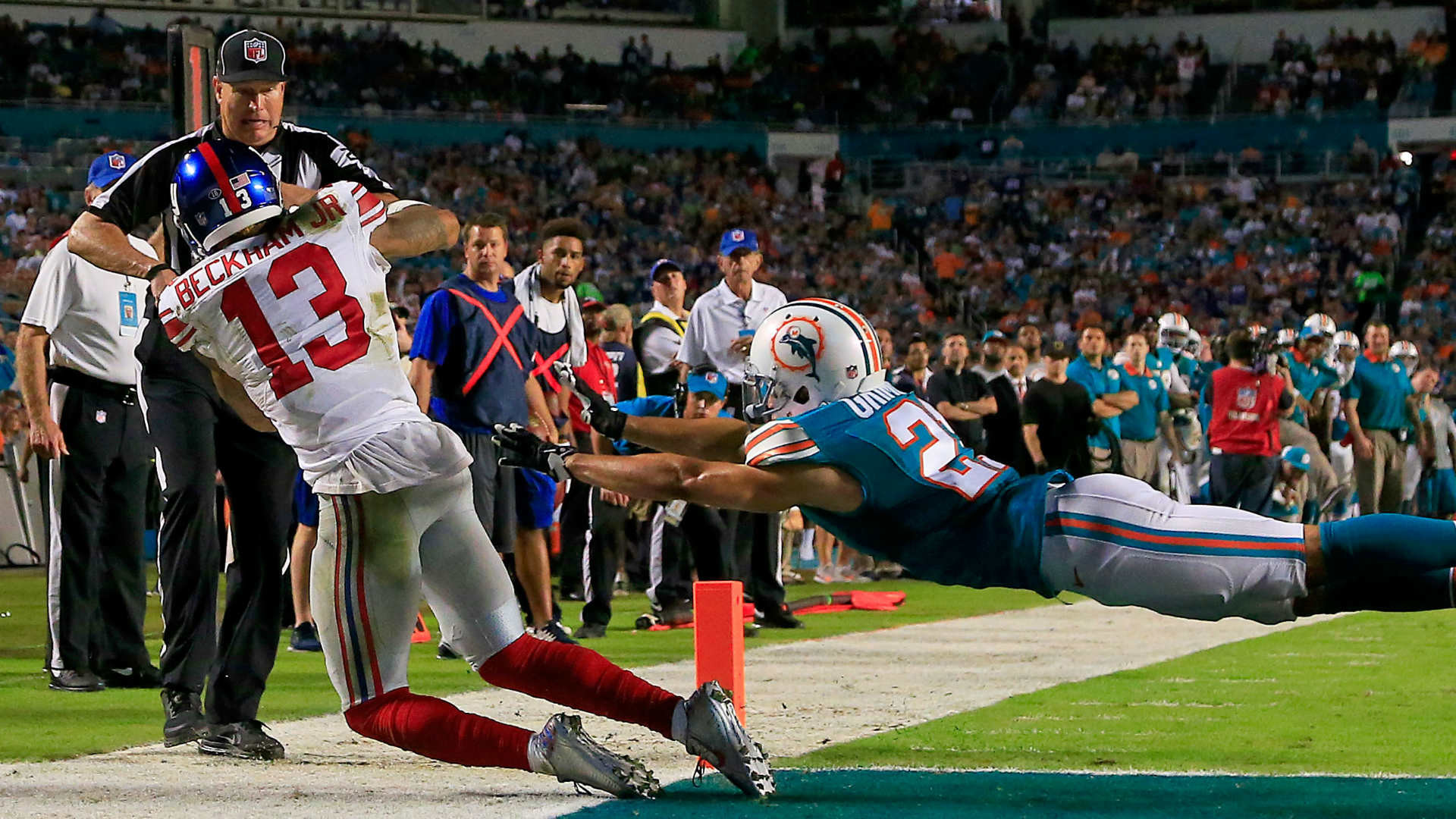 1920x1080 Odell Beckham Jr.'s big night the difference as Giants beat Dolphins | NFL  | Sporting News