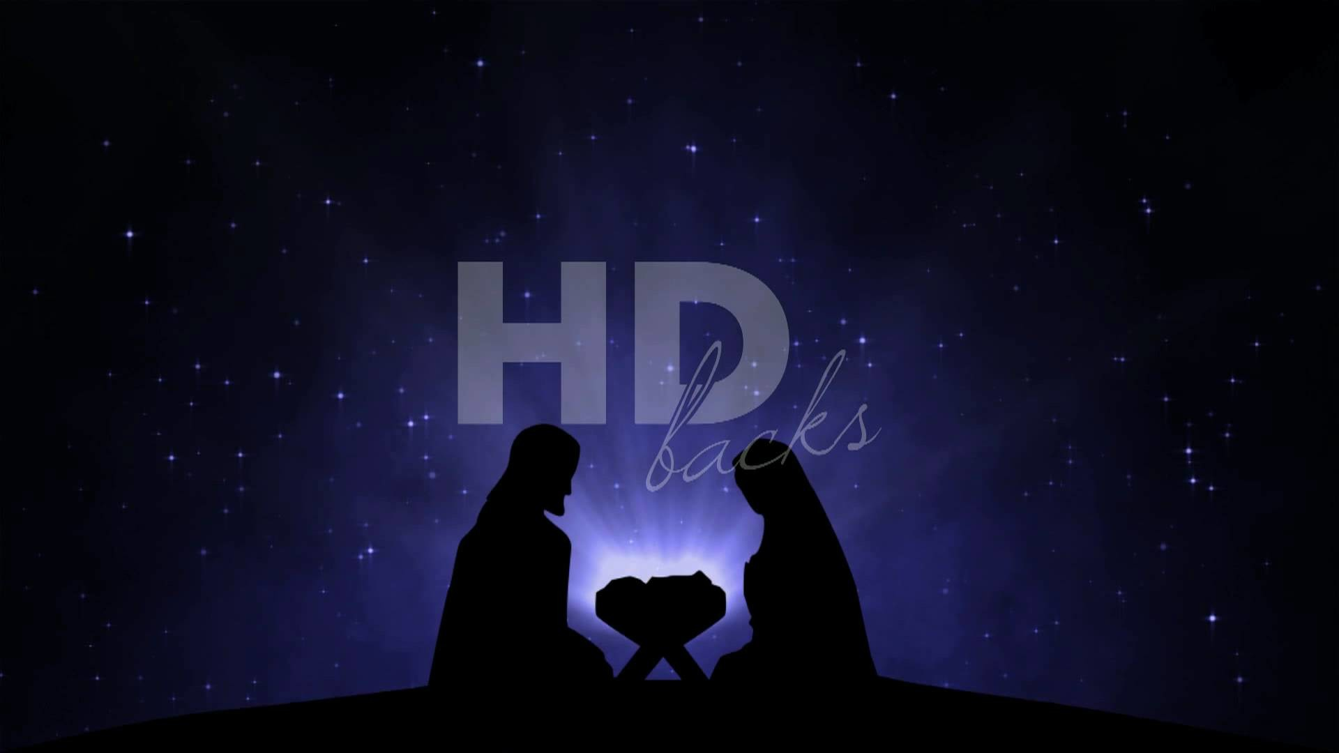 1920x1080 Nativity Silhouette - HD Background Loop