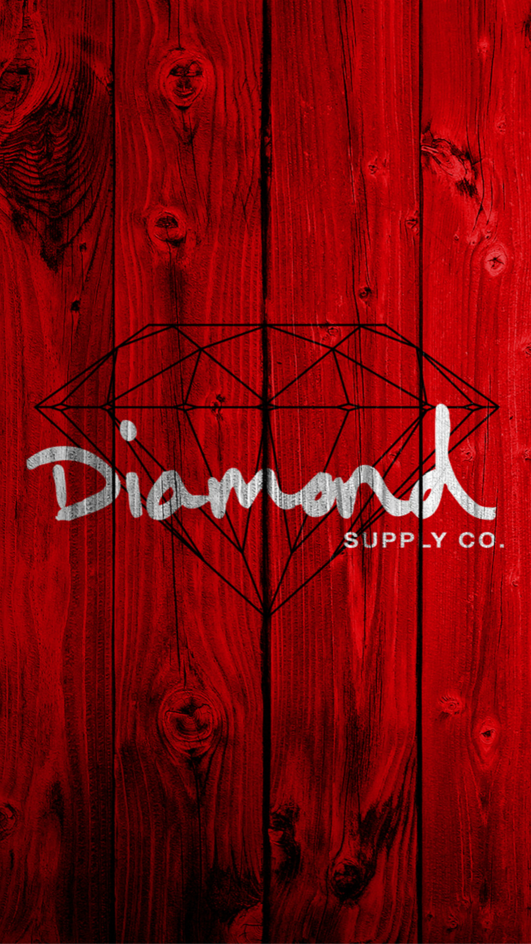 1080x1920 Red Wooden Diamond Painting Art Drawn iPhone 6 wallpaper