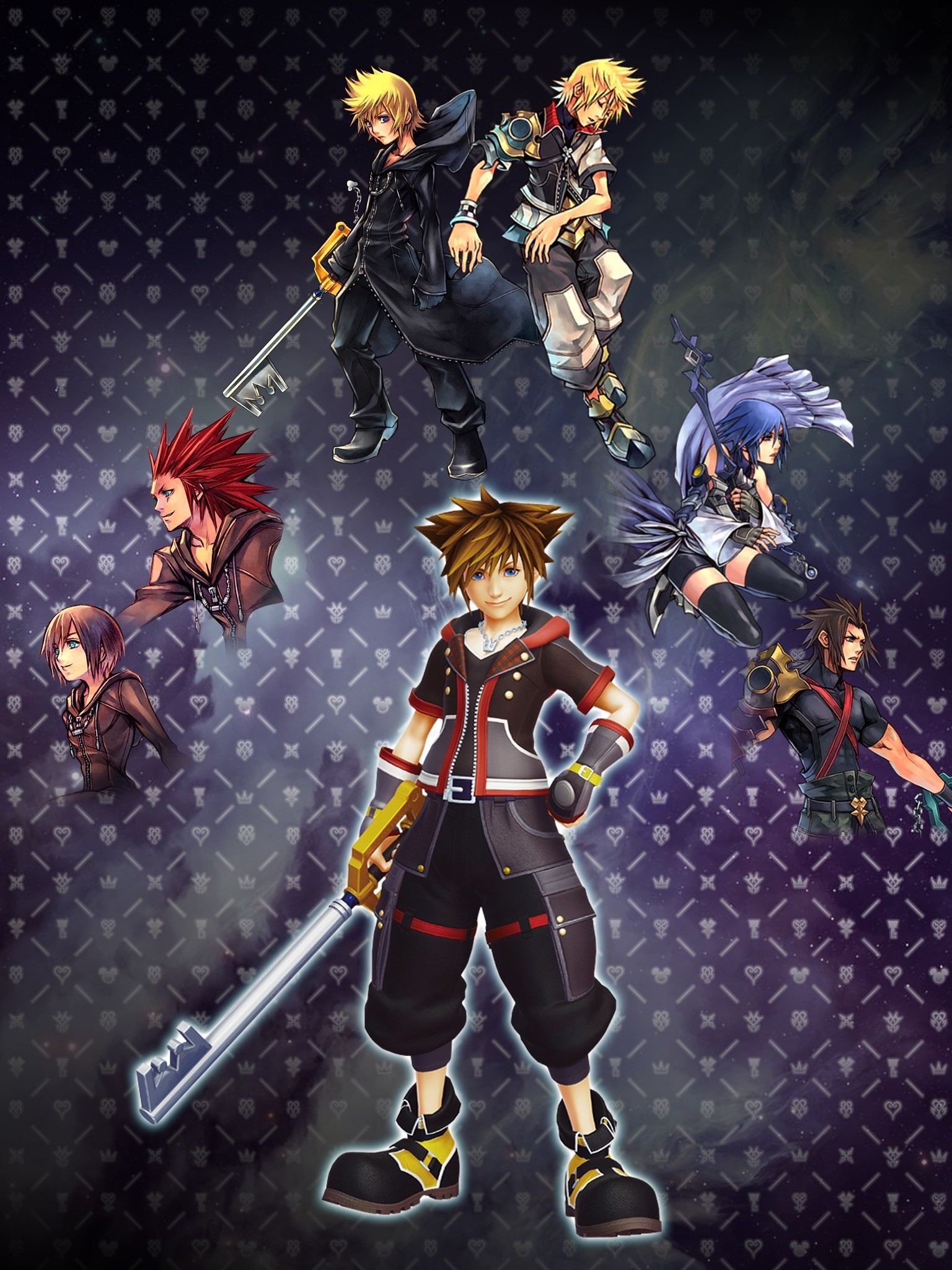 1536x2048 ... kingdom hearts iphone wallpaper 493154 best images collections ...