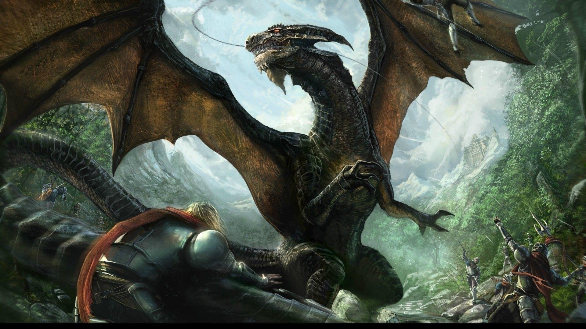 2560x1600 Dragon Fantasy Wallpaper