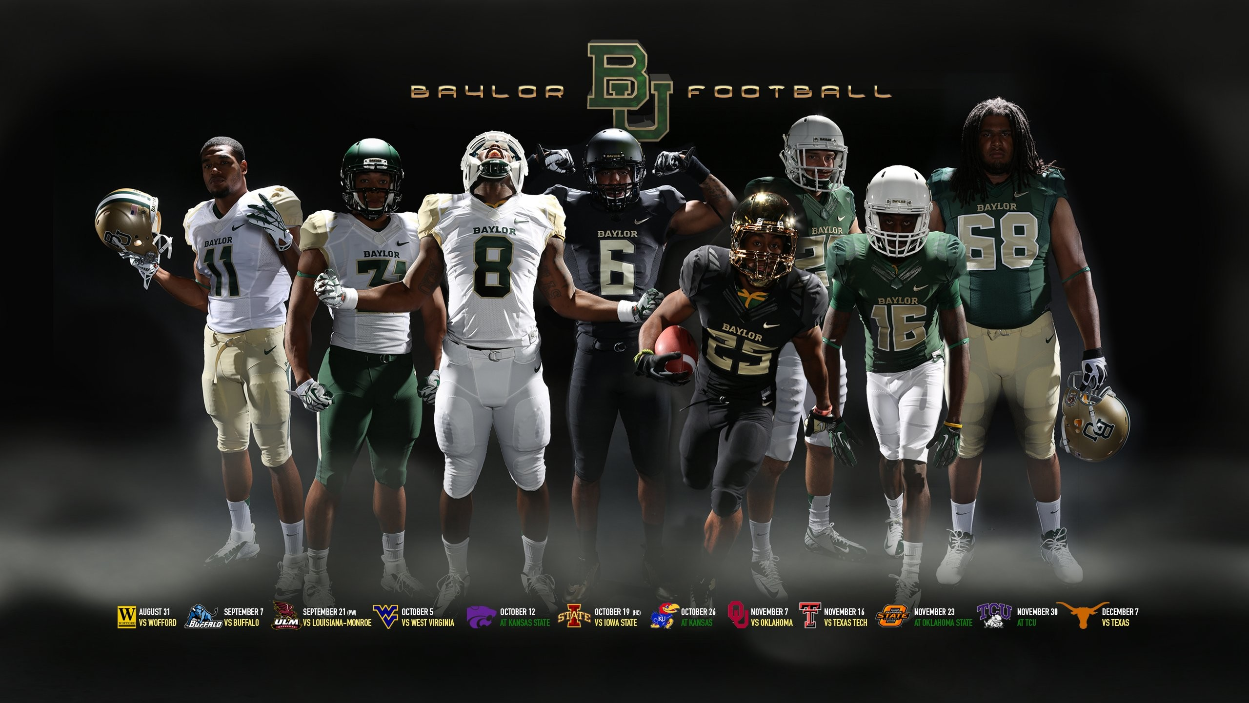 2560x1441 BAYLOR BEARS college football wallpaper