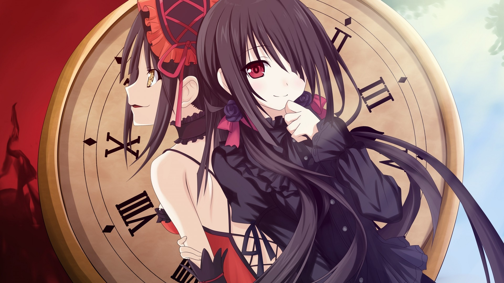 1920x1080 Preview wallpaper date a live, tokisaki kurumi, girl, bow
