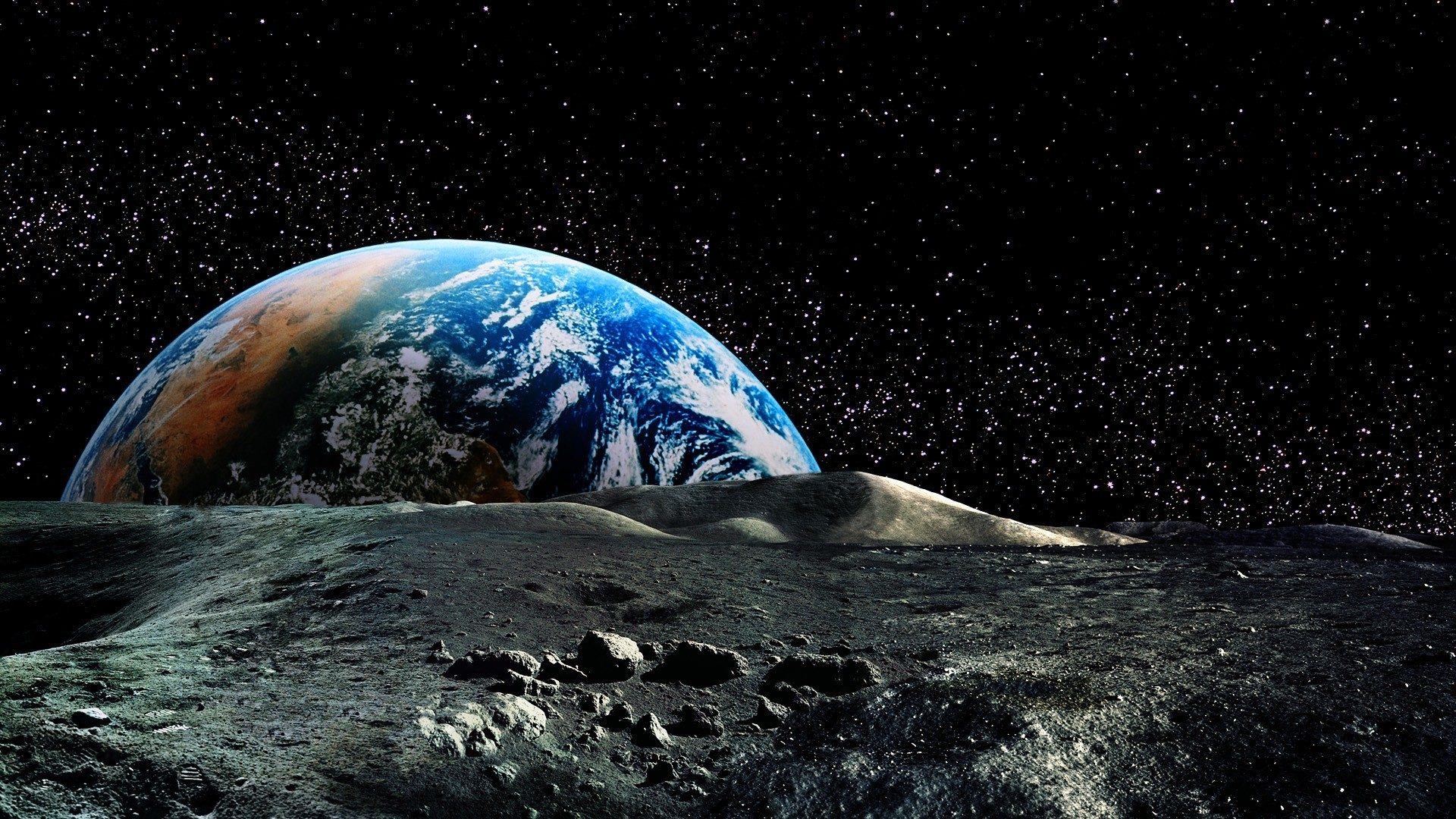 Earth Wallpaper Full Hd: Earth From Moon Wallpaper (62+ Images