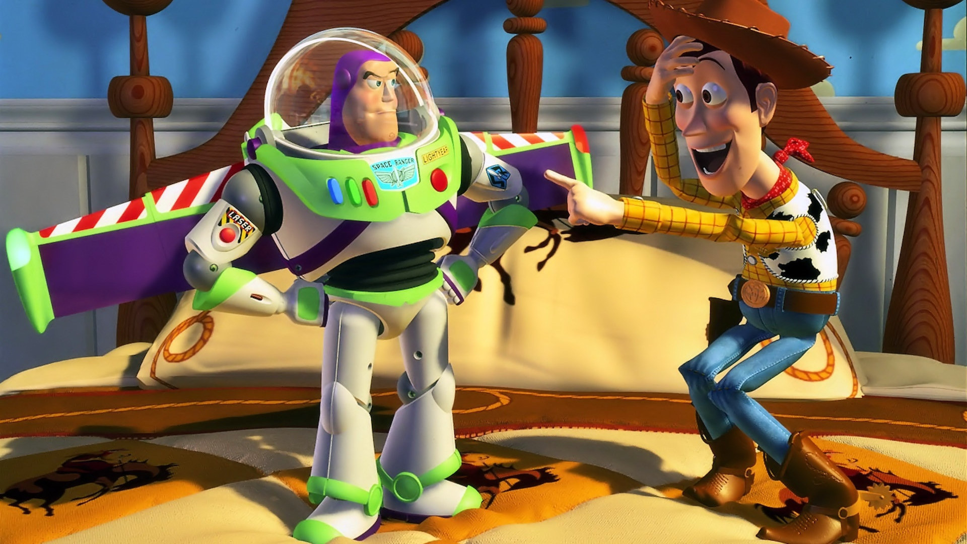 1920x1080 Completed picture of Woody and Buzz.ToyStory Photo Credit:  cartoonsonlinepics.com