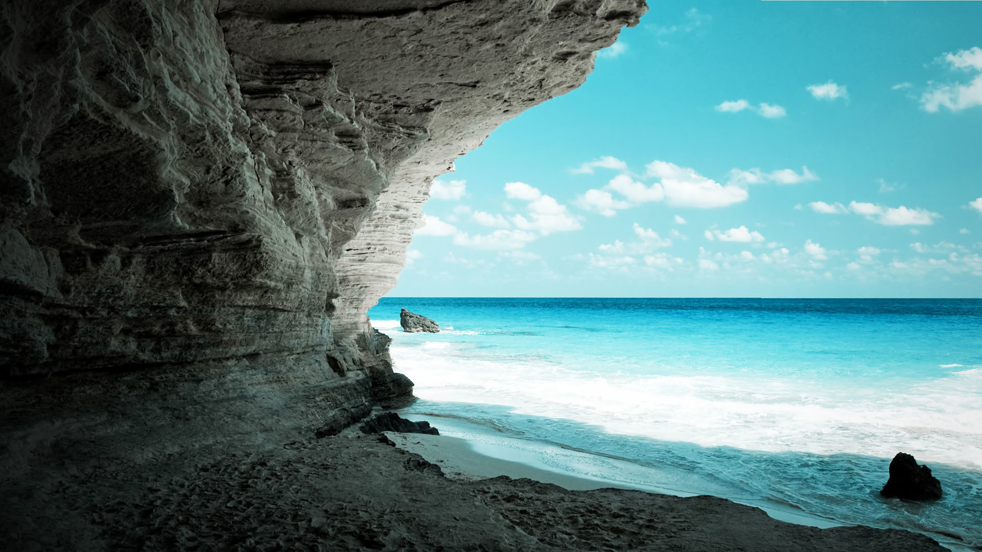 1920x1080 amazing-full-hd-wallpaper-cave-on-the-beach-