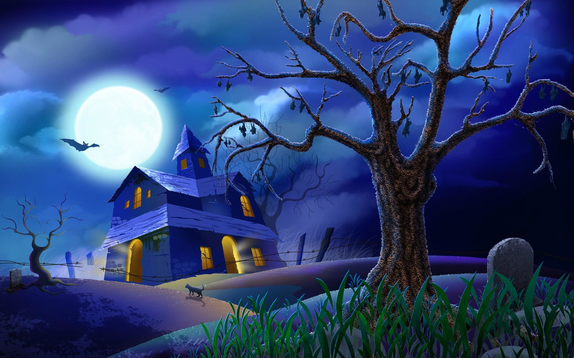 1920x1200 Haunted House Wallpapers Desktop - Wallpaper Cave