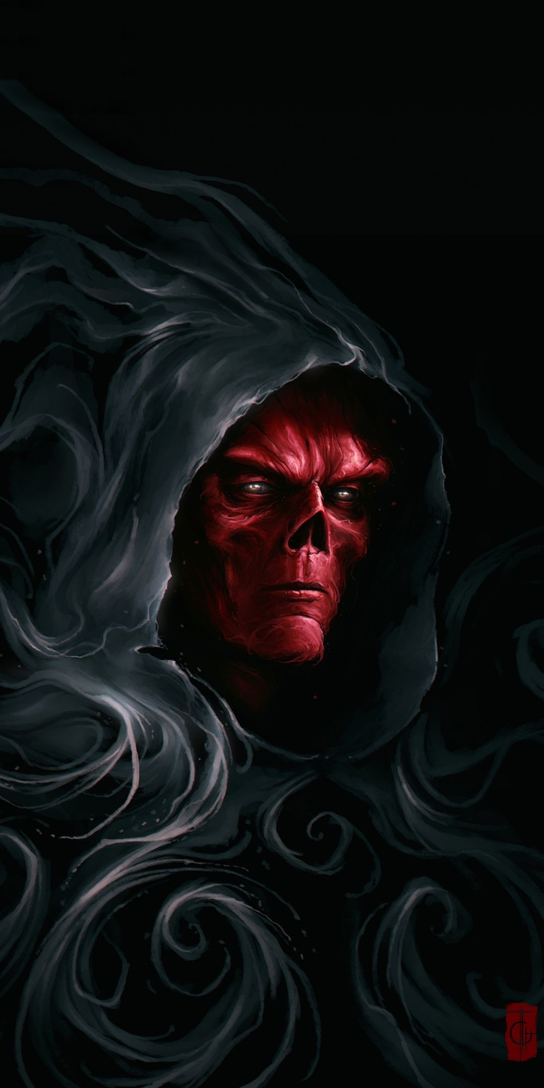 1080x2160 Stone Keeper, villain, marvel, red skull, artwork,  wallpaper