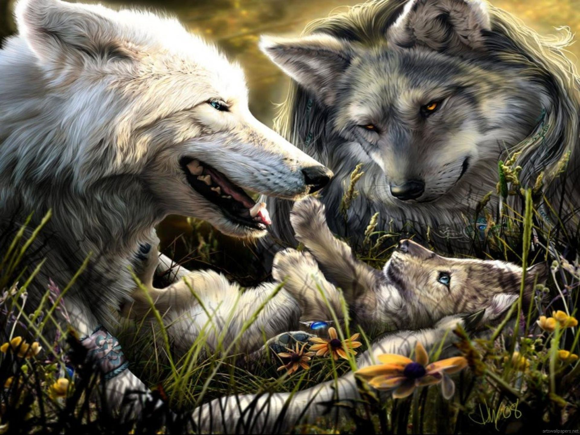 1920x1440 cool family of wolves wallpaper Check more at http://www.finewallpapers.