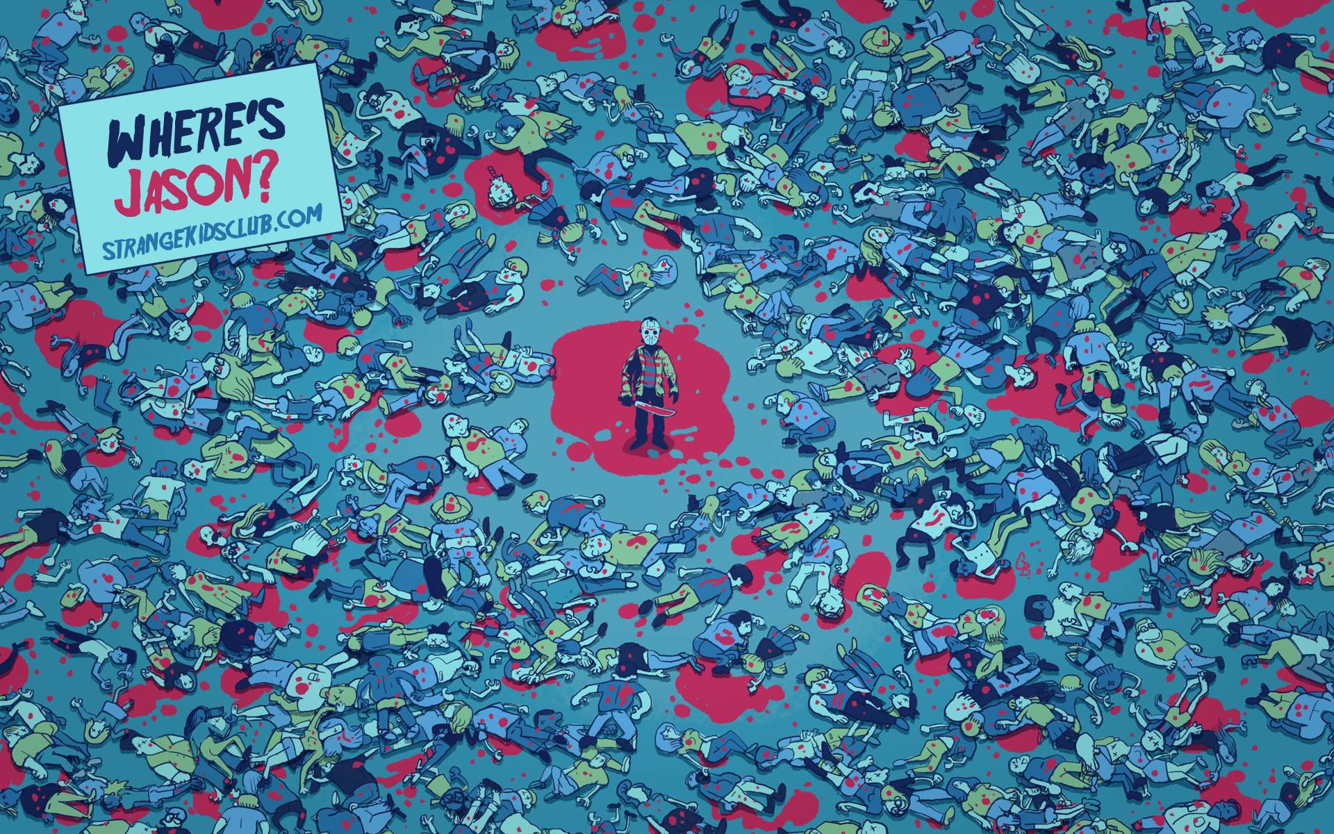 1920x1200 FREE 'Where's Jason?' Wallpaper by Glen Brogran to Celebrate Friday the 13th
