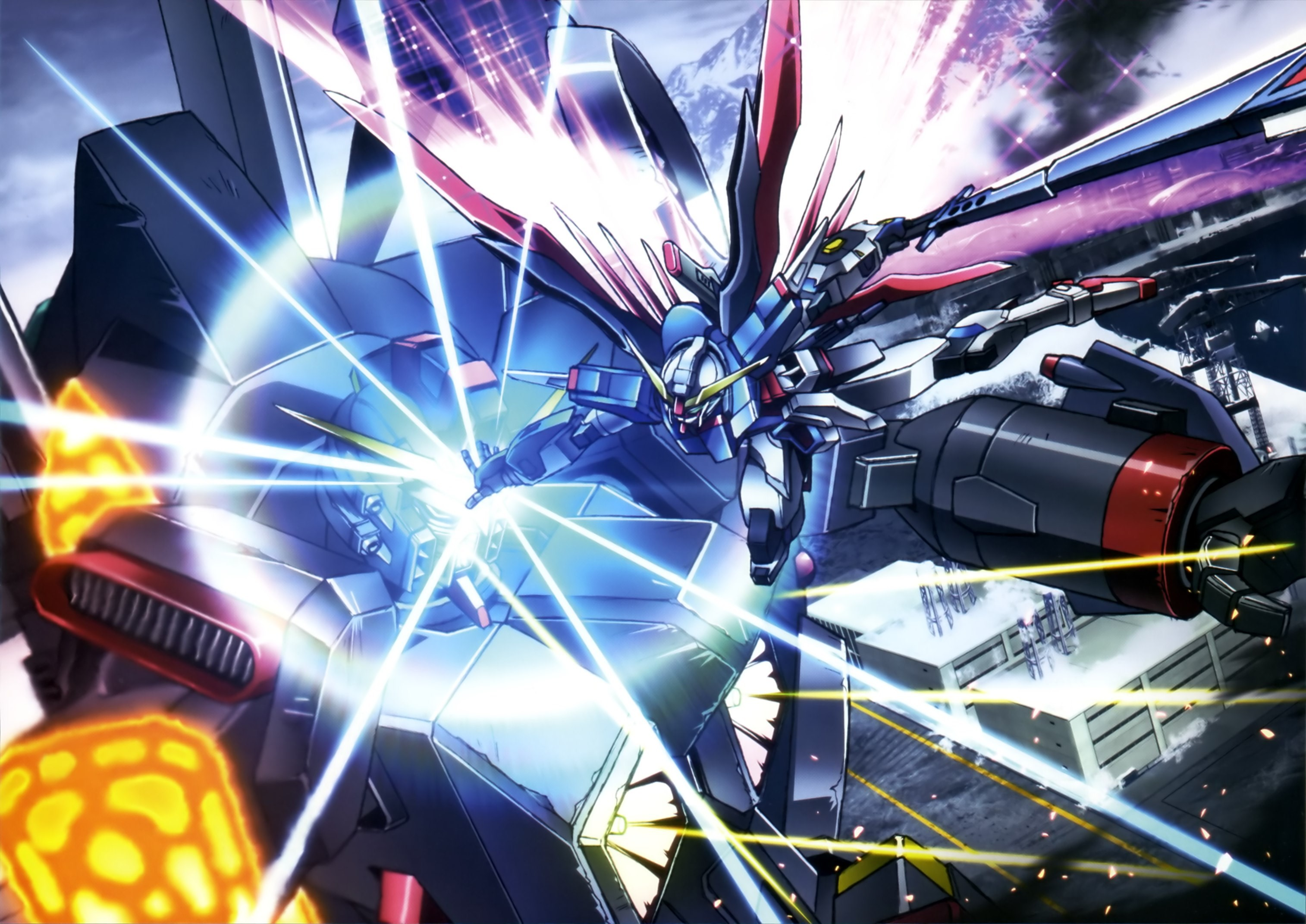 3028x2143 widescreen wallpaper mobile suit gundam seed destiny by Burne Round  (2017-03-03