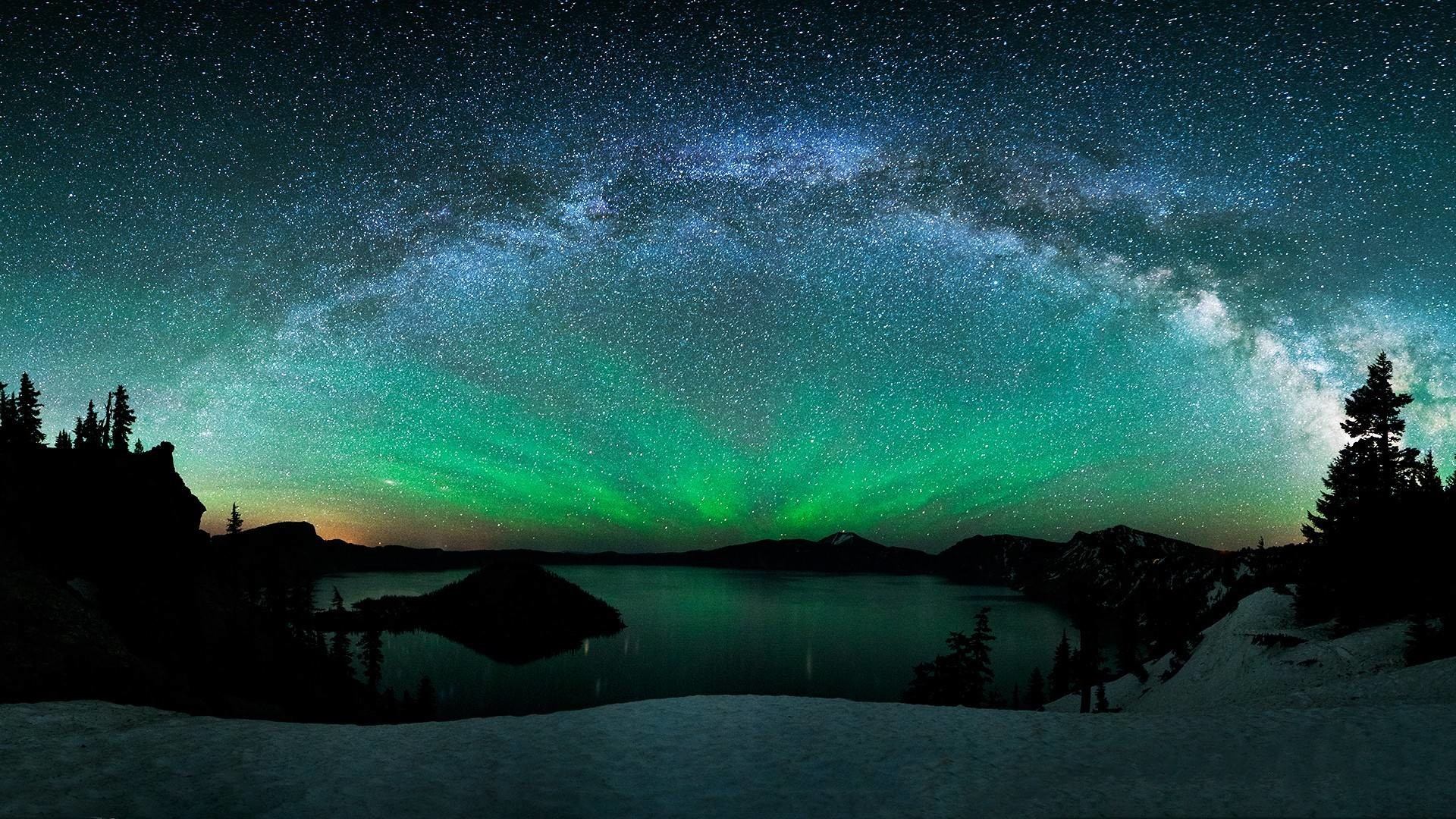 1920x1080 Aurora Borealis From Space 2014