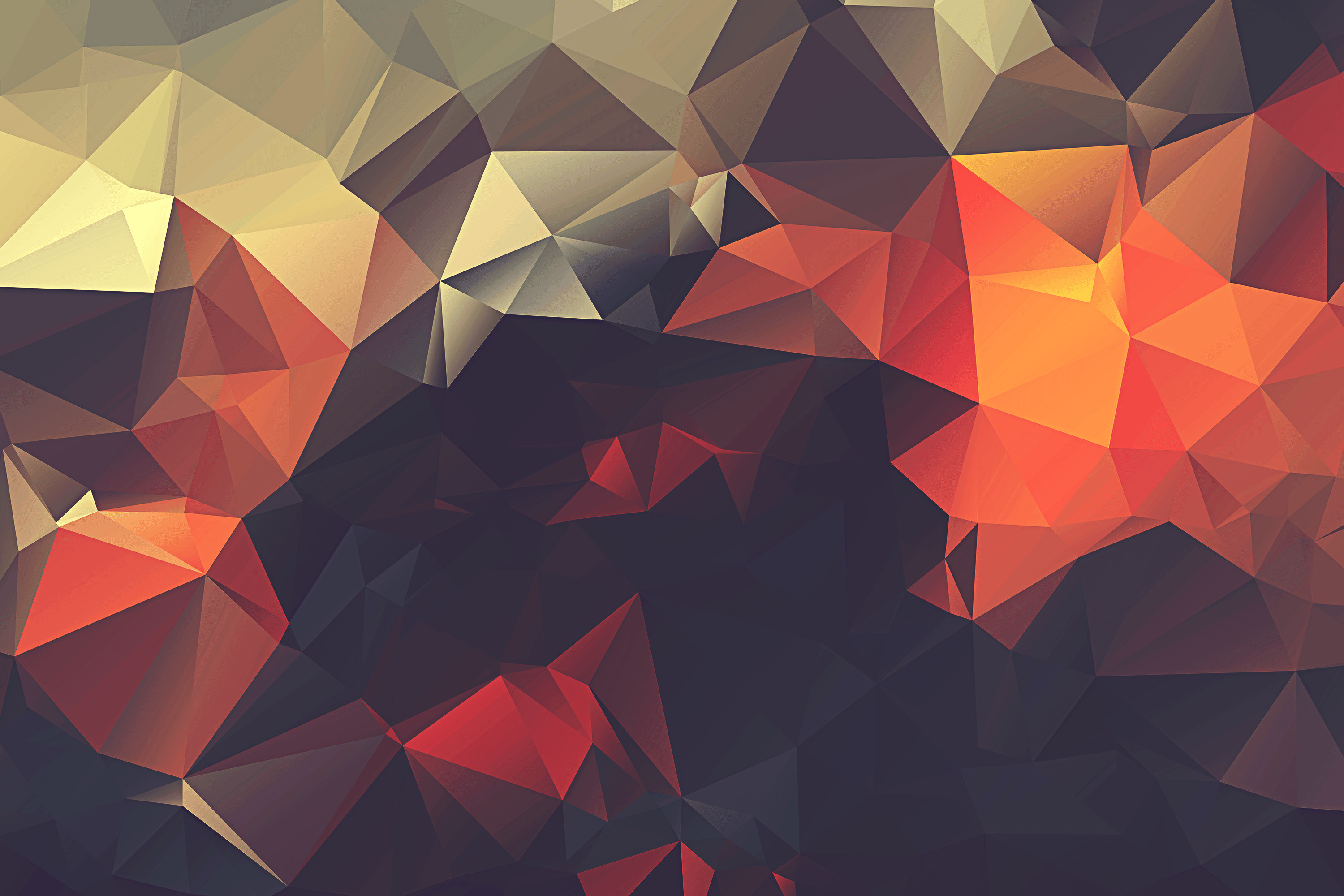 2560x1440 Low Poly Mountains - Cool Wallpapers