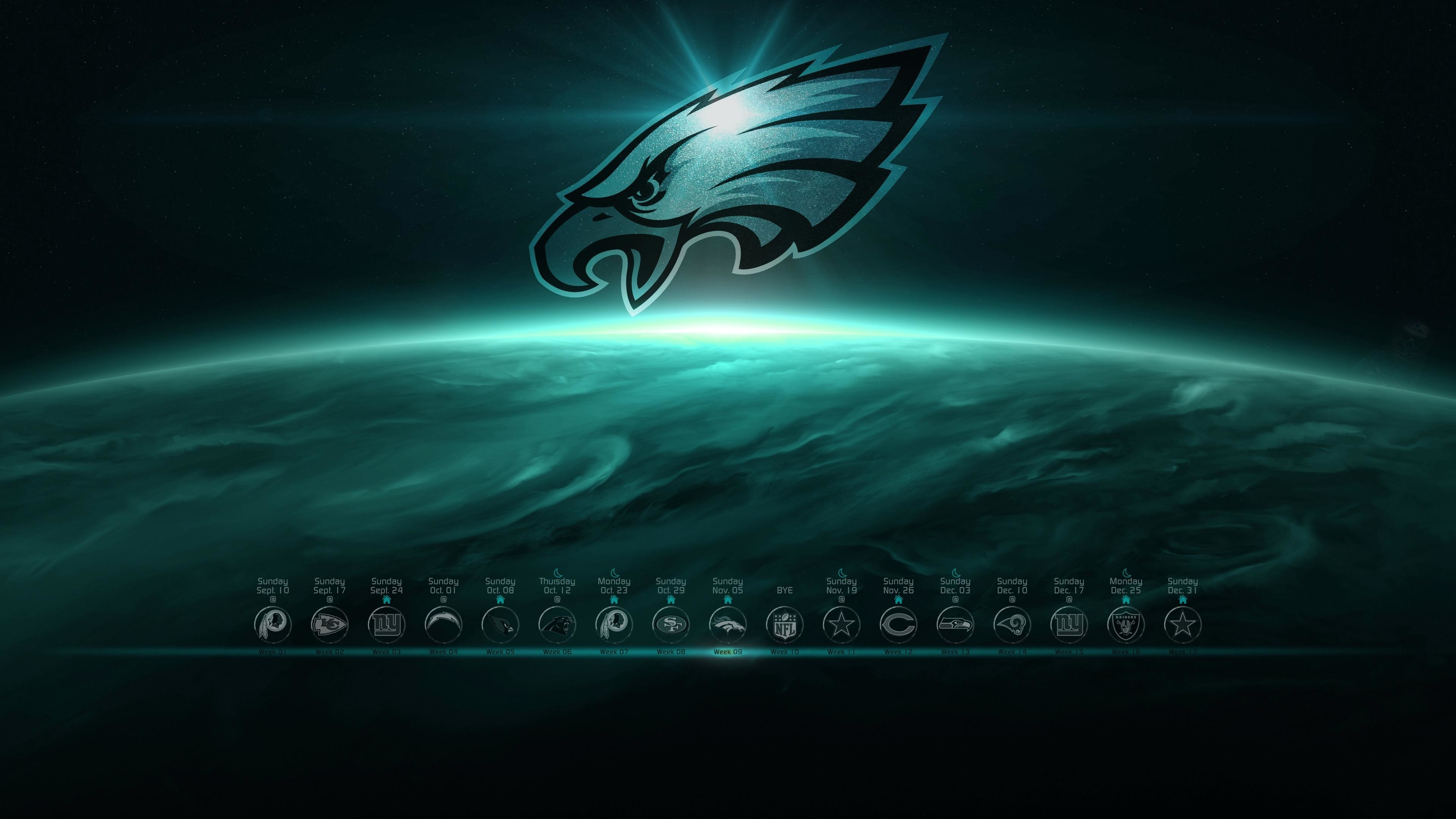 3840x2160  Philadelphia Eagles wallpaper 2017 With schedule