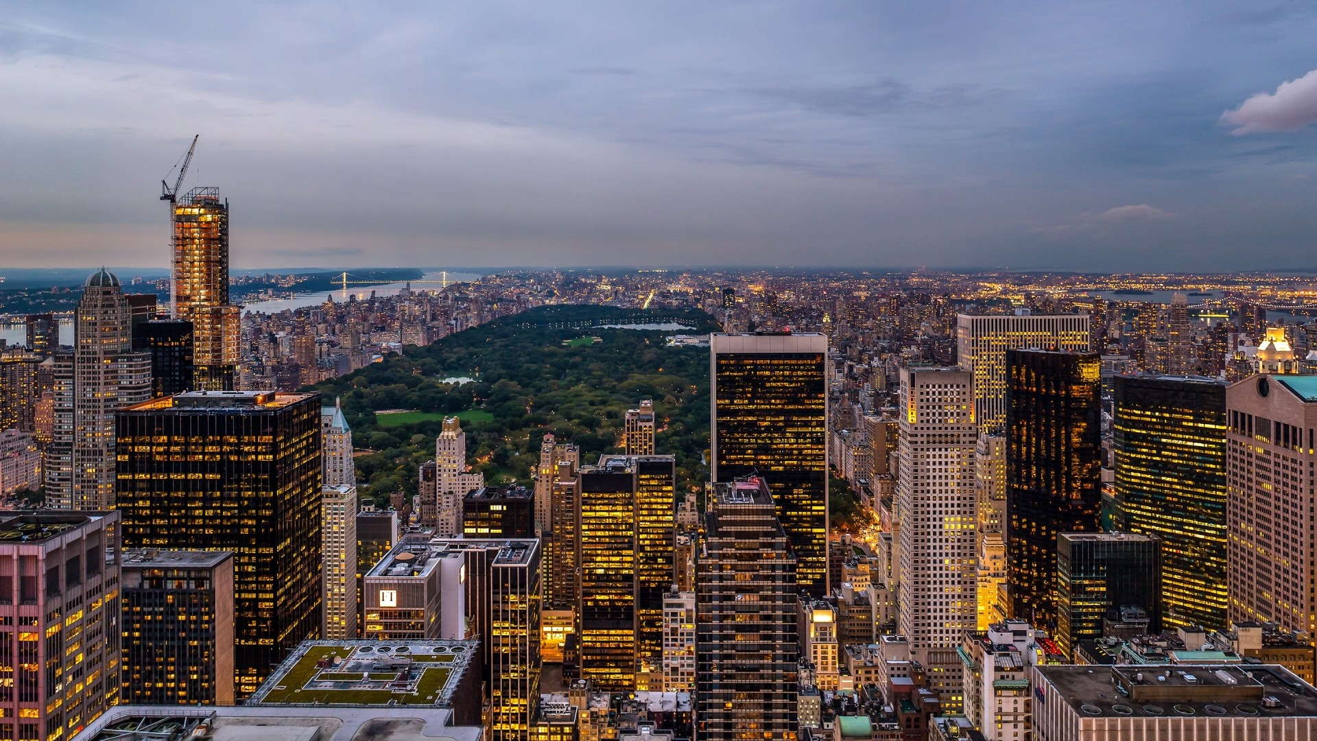 1920x1080  Wallpaper usa, new york state, new york city, rockefeller center,  state