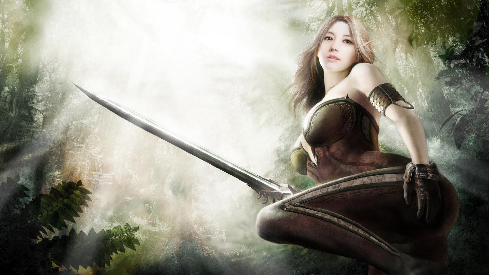 Fantasy Art Elves Wallpapers Hd Desktop And Mobile: Fantasy Female Warrior Wallpapers (77+ Images