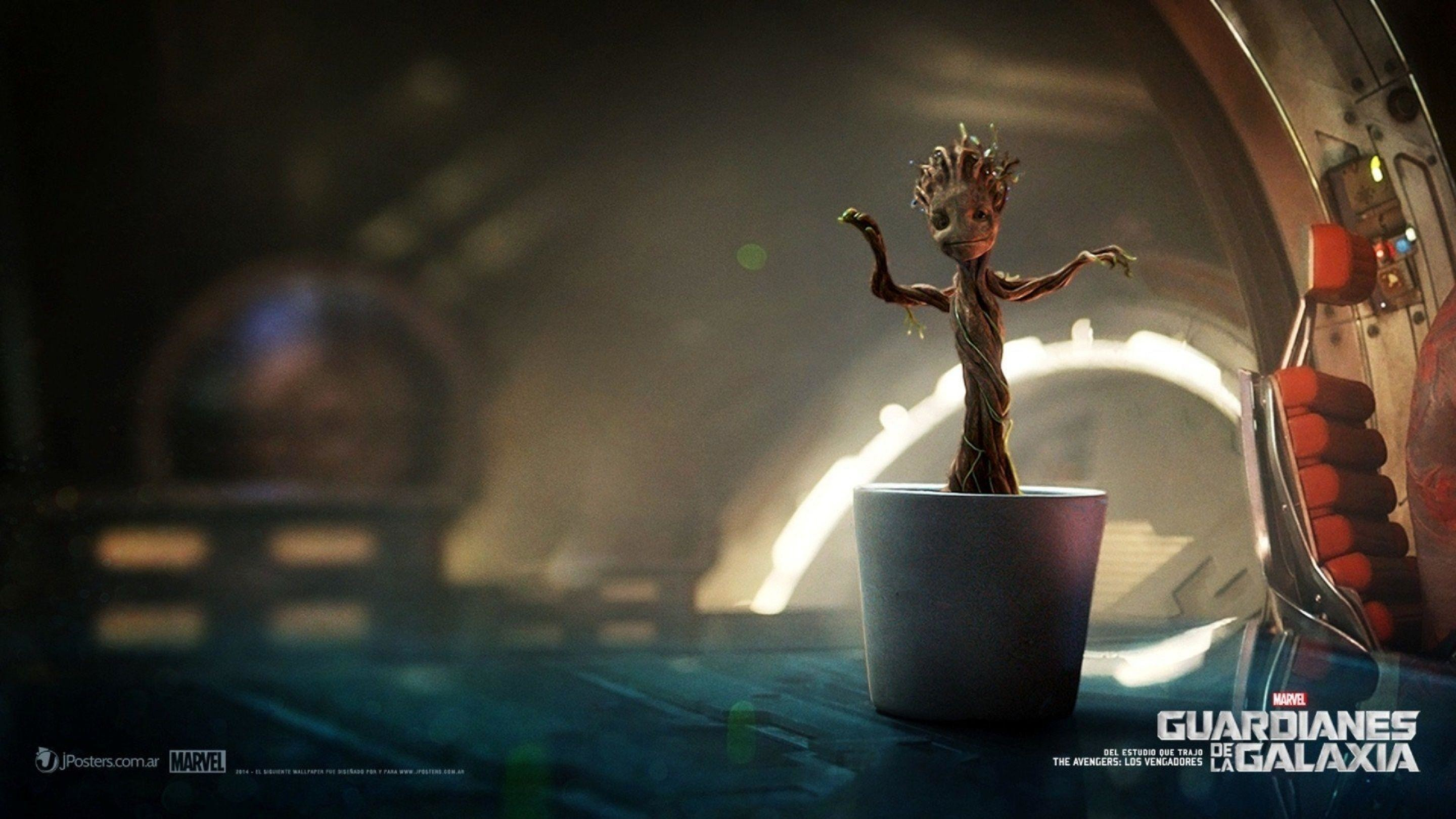 2880x1620 Guardians Of The Galaxy Baby Groot Wallpaper