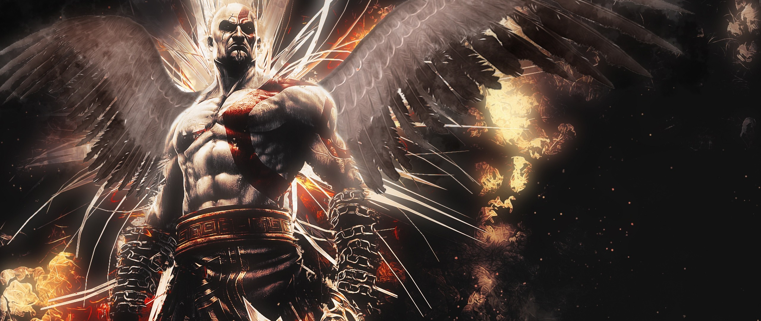 2560x1080 Preview wallpaper god of war, ascension, kratos